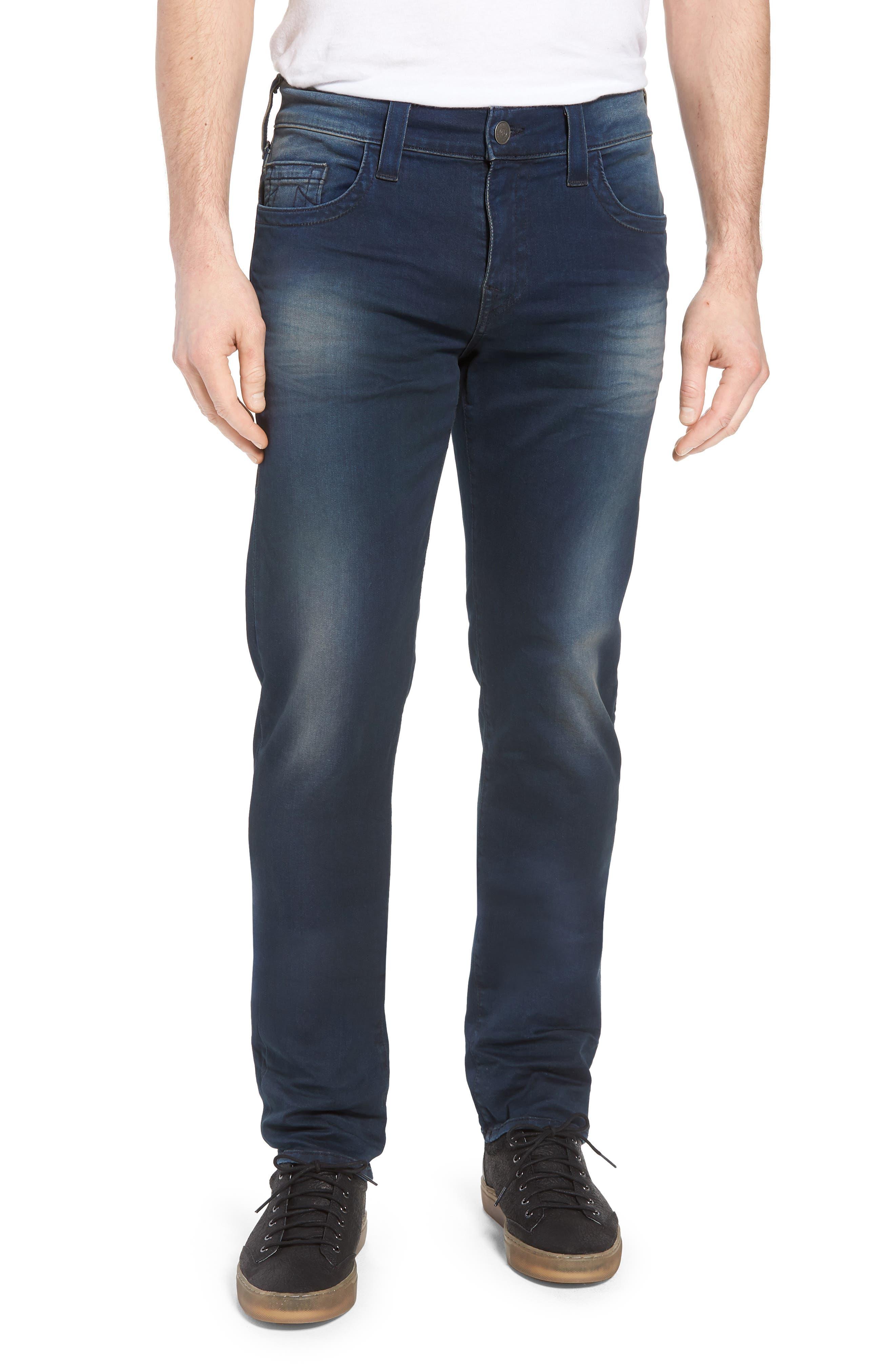 Geno Straight Leg Jeans,                             Main thumbnail 1, color,                             Dark Navy