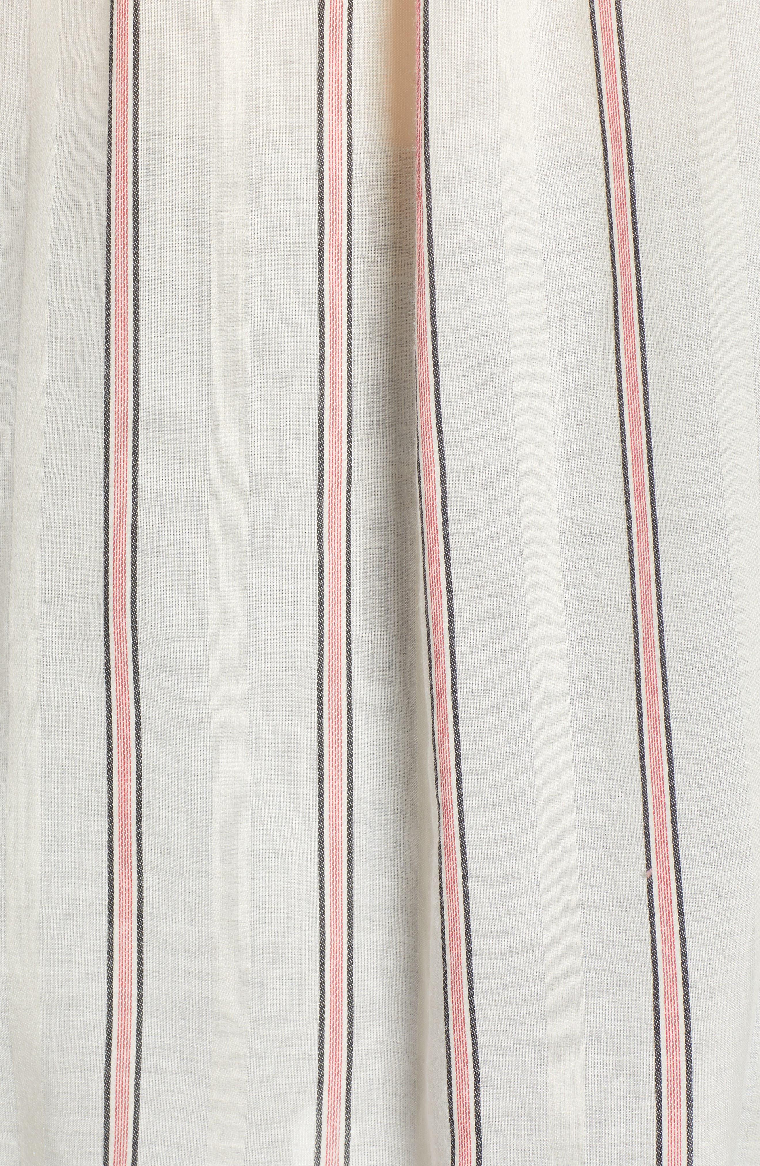 Stripe Woven Shirt,                             Alternate thumbnail 6, color,                             Off White