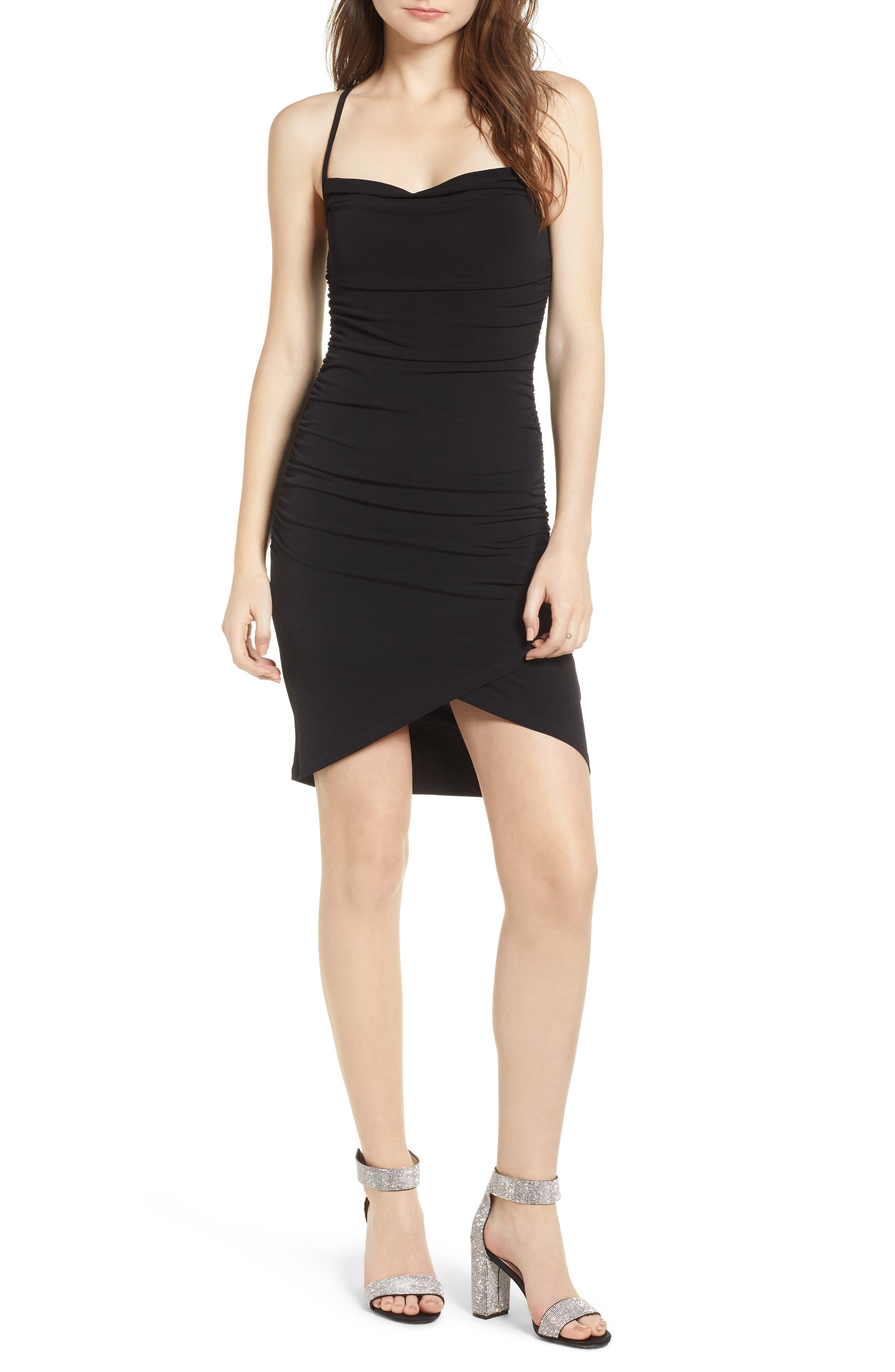Leith Ruched Body-Con Minidress