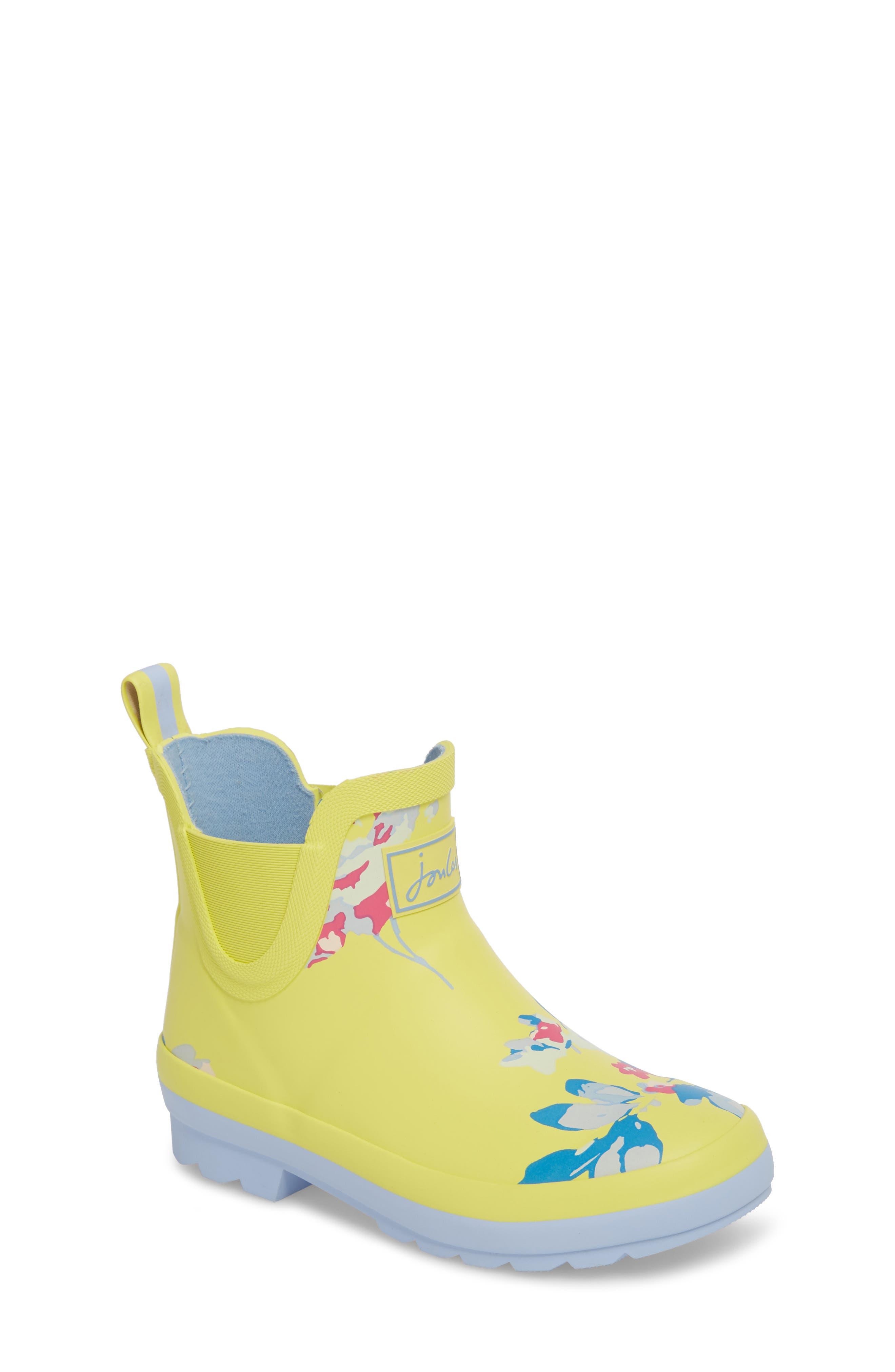 Print Rain Boot,                             Main thumbnail 1, color,                             Yellow Margate Floral