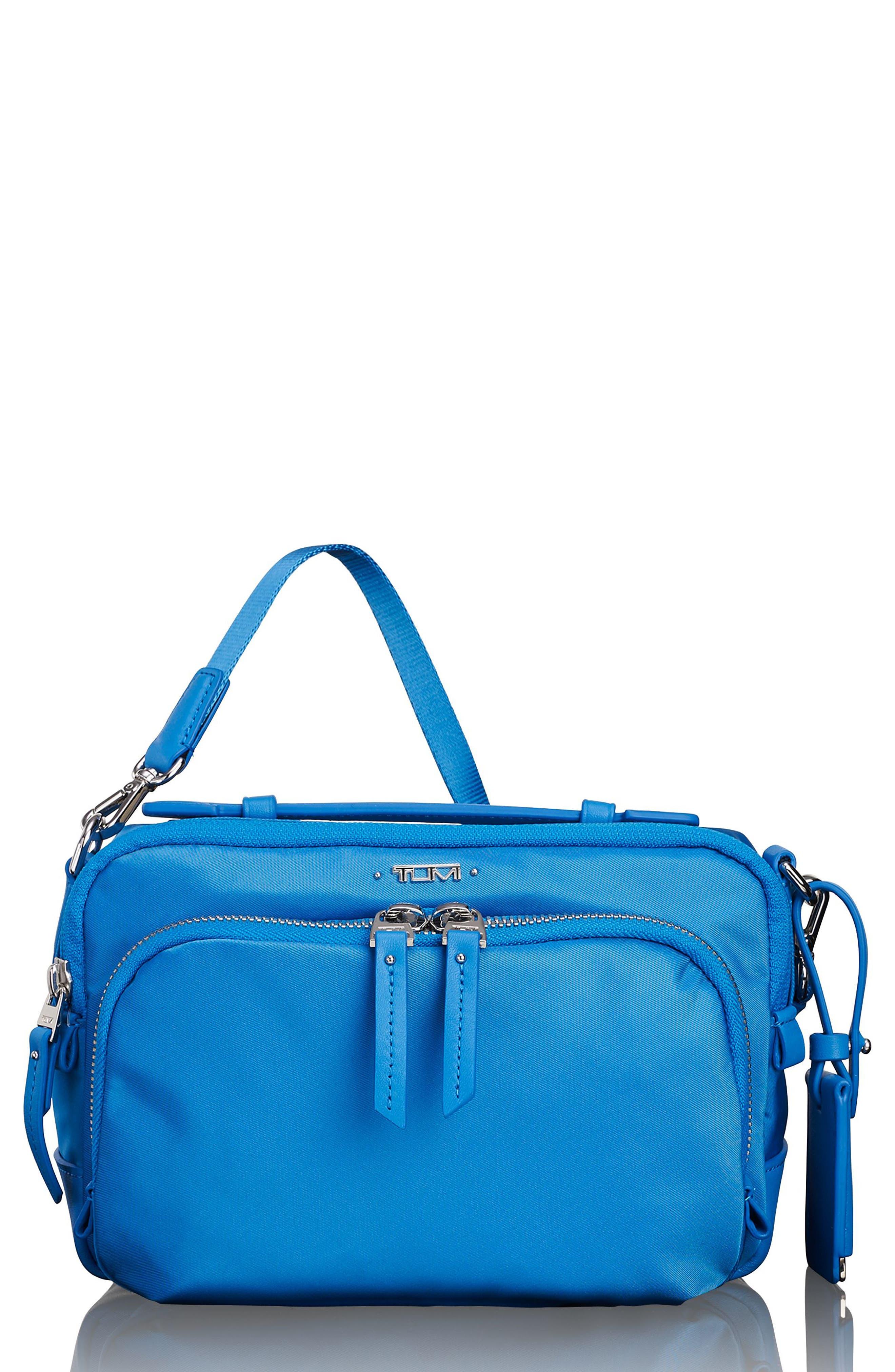 Luanda Crossbody Flight Bag,                         Main,                         color, Bright Blue