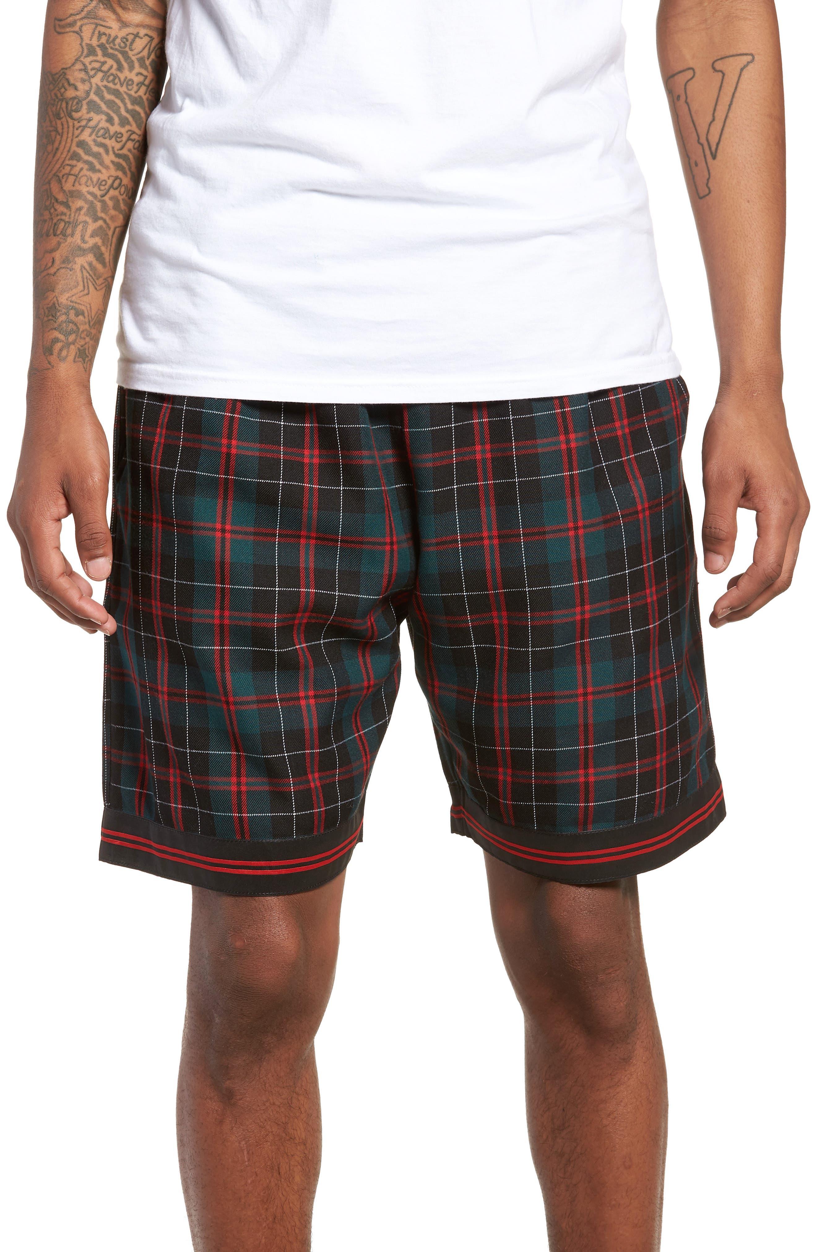 Represent Tartan Drawstring Shorts