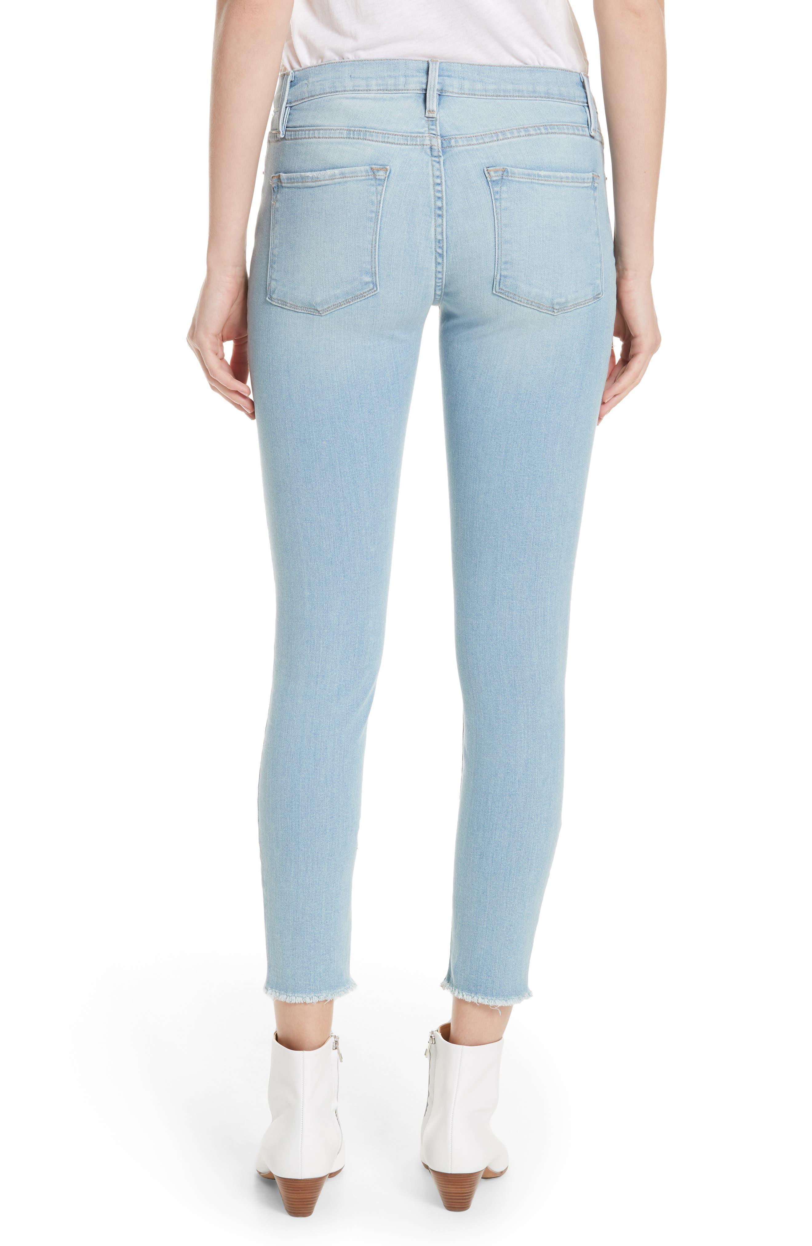 Alternate Image 2  - FRAME Le Skinny de Jeanne Raw Hem Crop Skinny Jeans (Jerome)