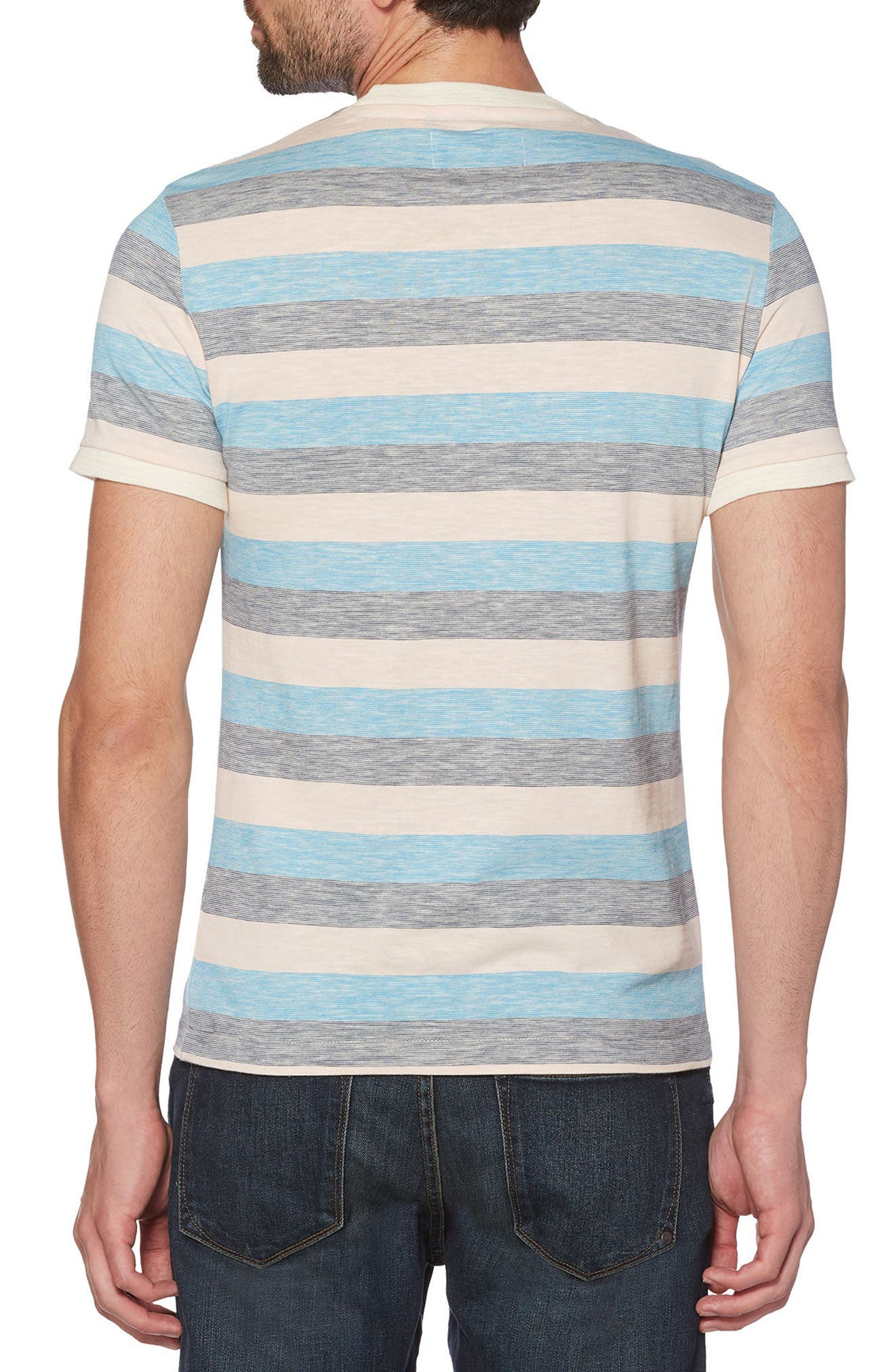 Reverse Feeder Stripe T-Shirt,                             Alternate thumbnail 2, color,                             Impatiens Pink