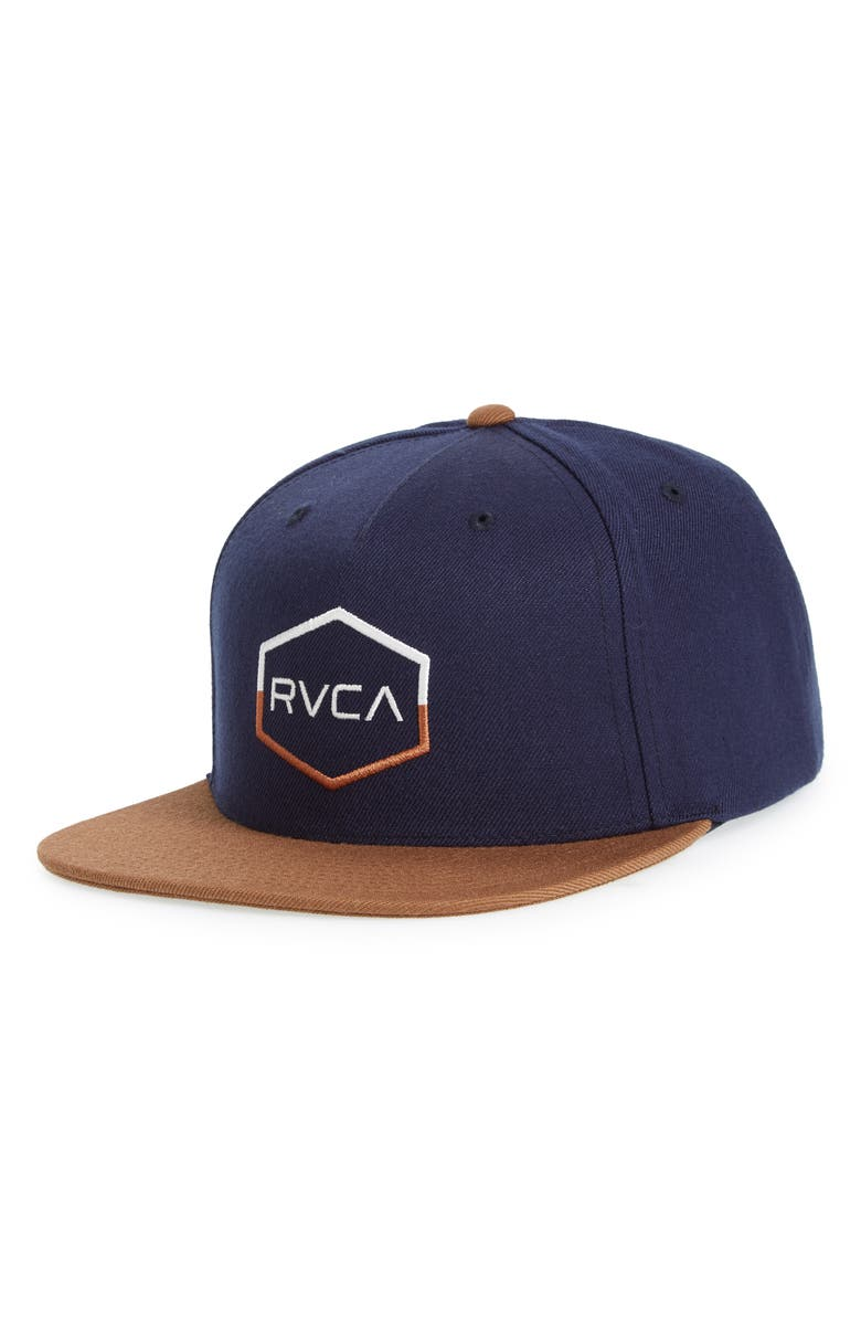 5181d9d7098 Rvca Commonwealth Iii Snapback Hat - Black In Navy