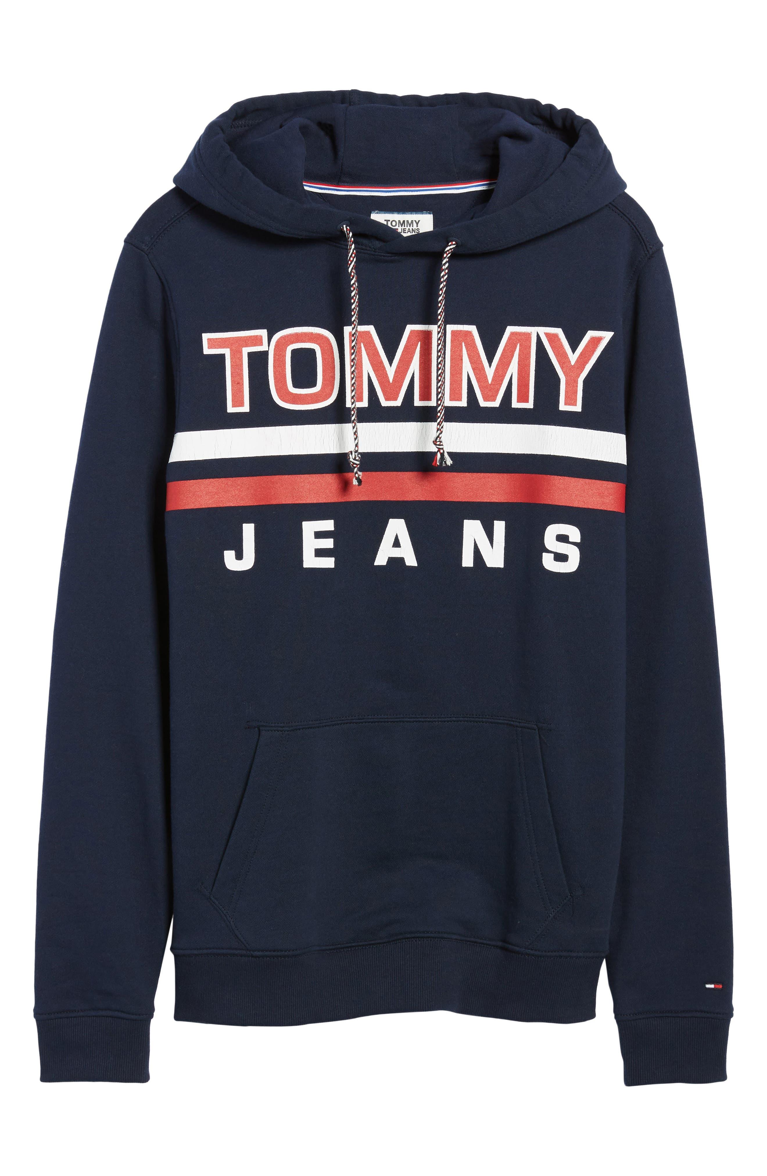 Alternate Image 6  - TOMMY JEANS Essential Graphic Hoodie Sweatshirt