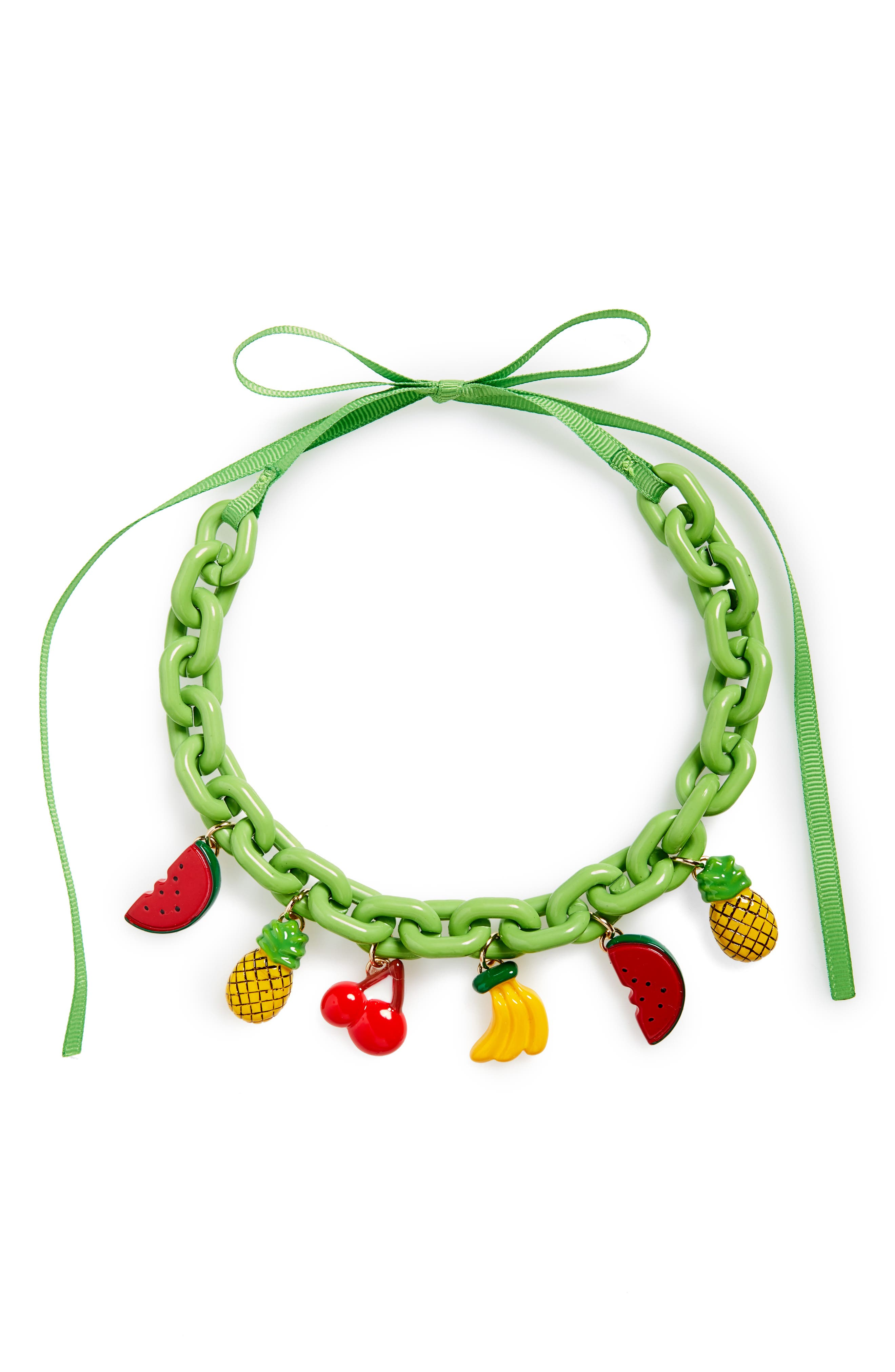 Fruit Chain Necklace,                         Main,                         color, Green