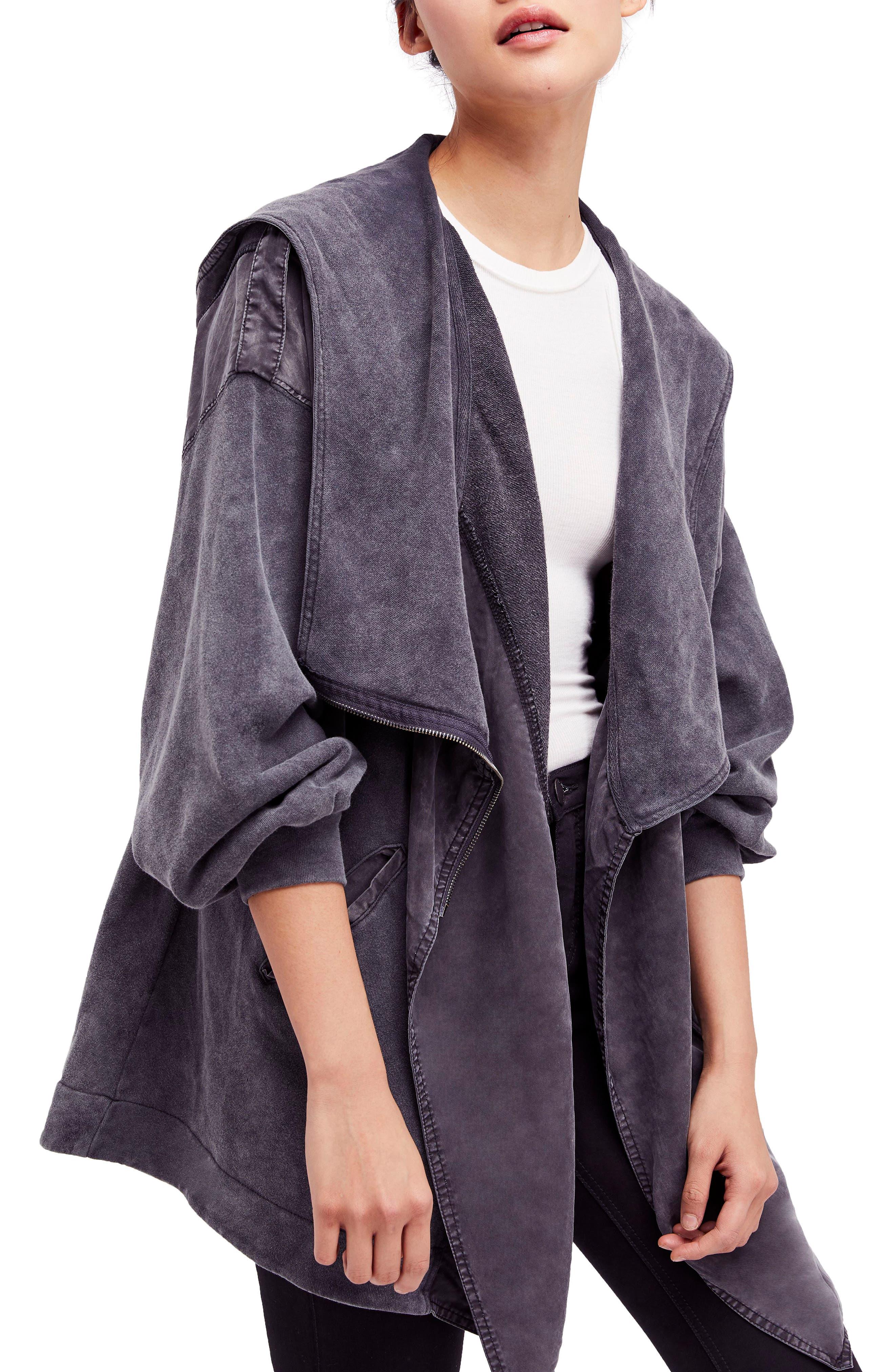 C'mon Hooded Cardigan,                         Main,                         color, Black