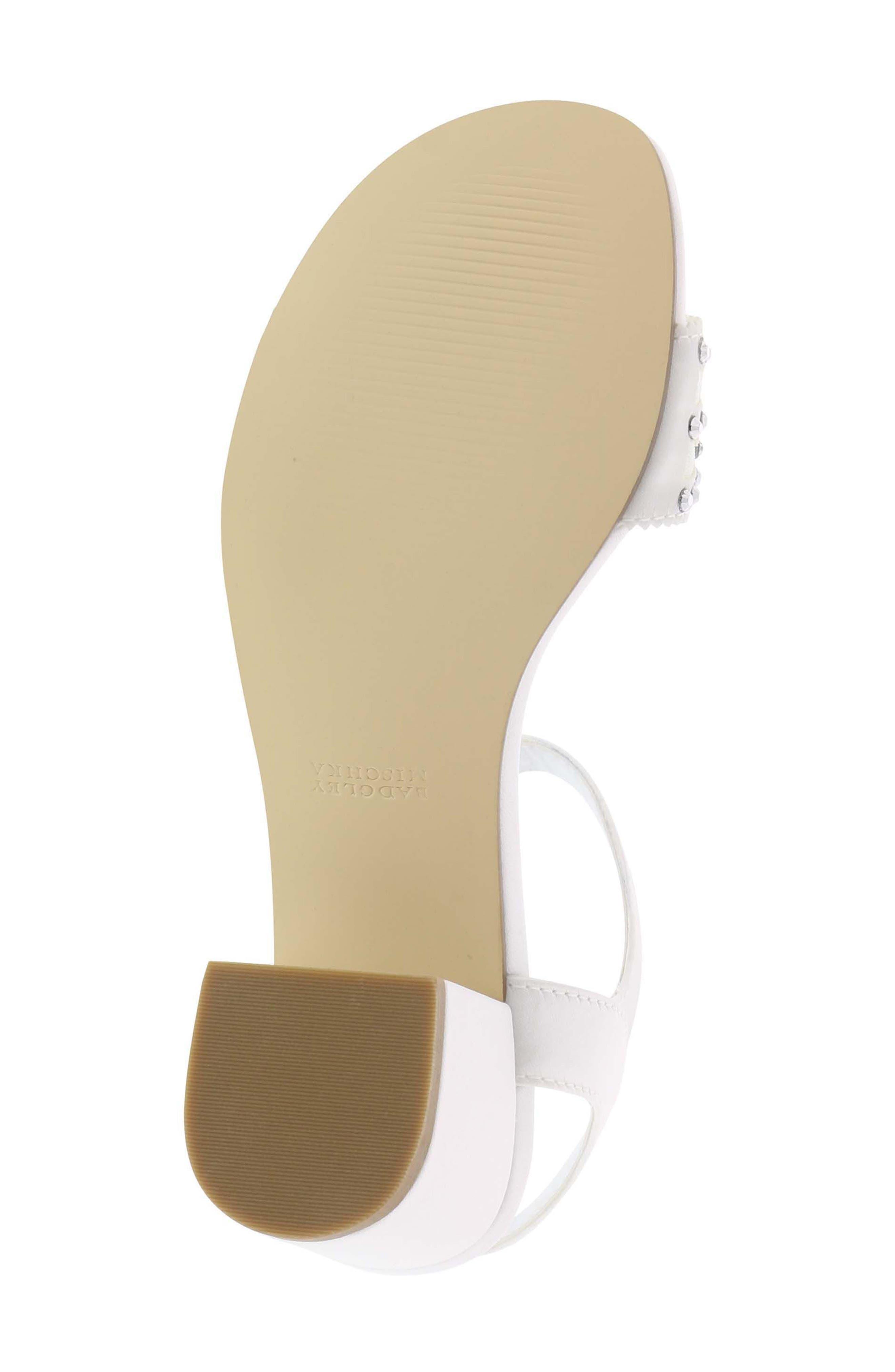 Ascot Gems Sandal,                             Alternate thumbnail 6, color,                             White