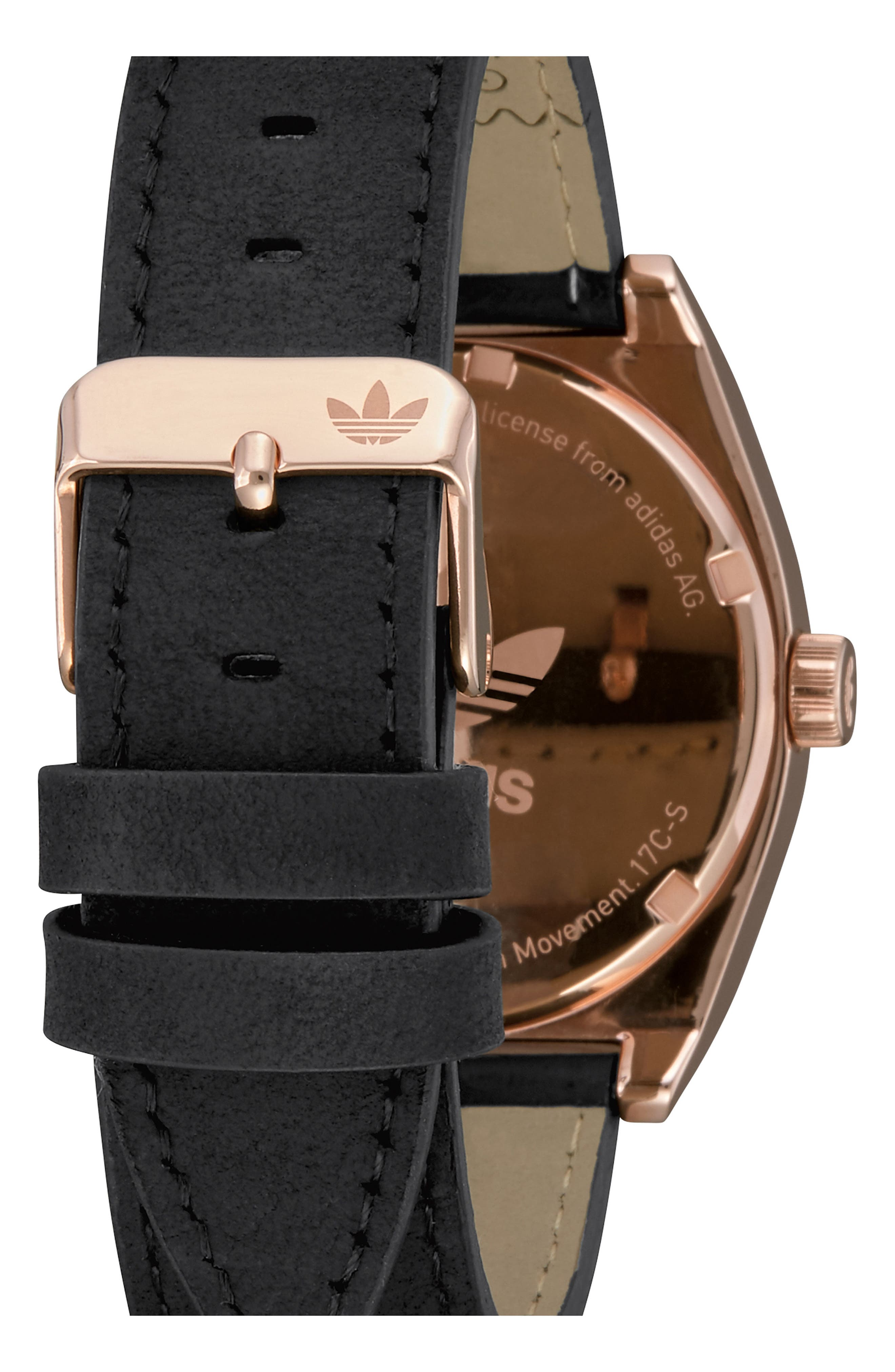 Process Leather Strap Watch, 38mm,                             Alternate thumbnail 2, color,                             Rose Gold/ Navy/ Black