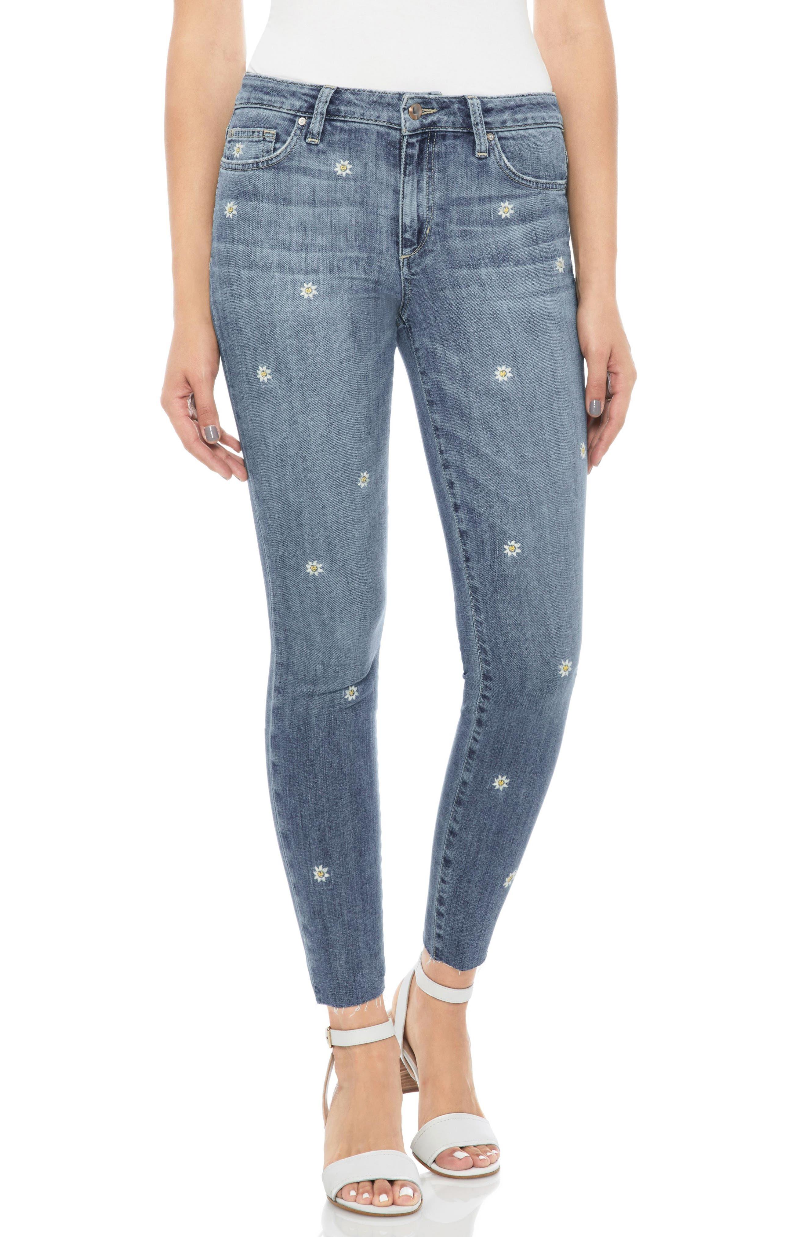 Icon Crop Skinny Jeans,                             Main thumbnail 1, color,                             Priscilla
