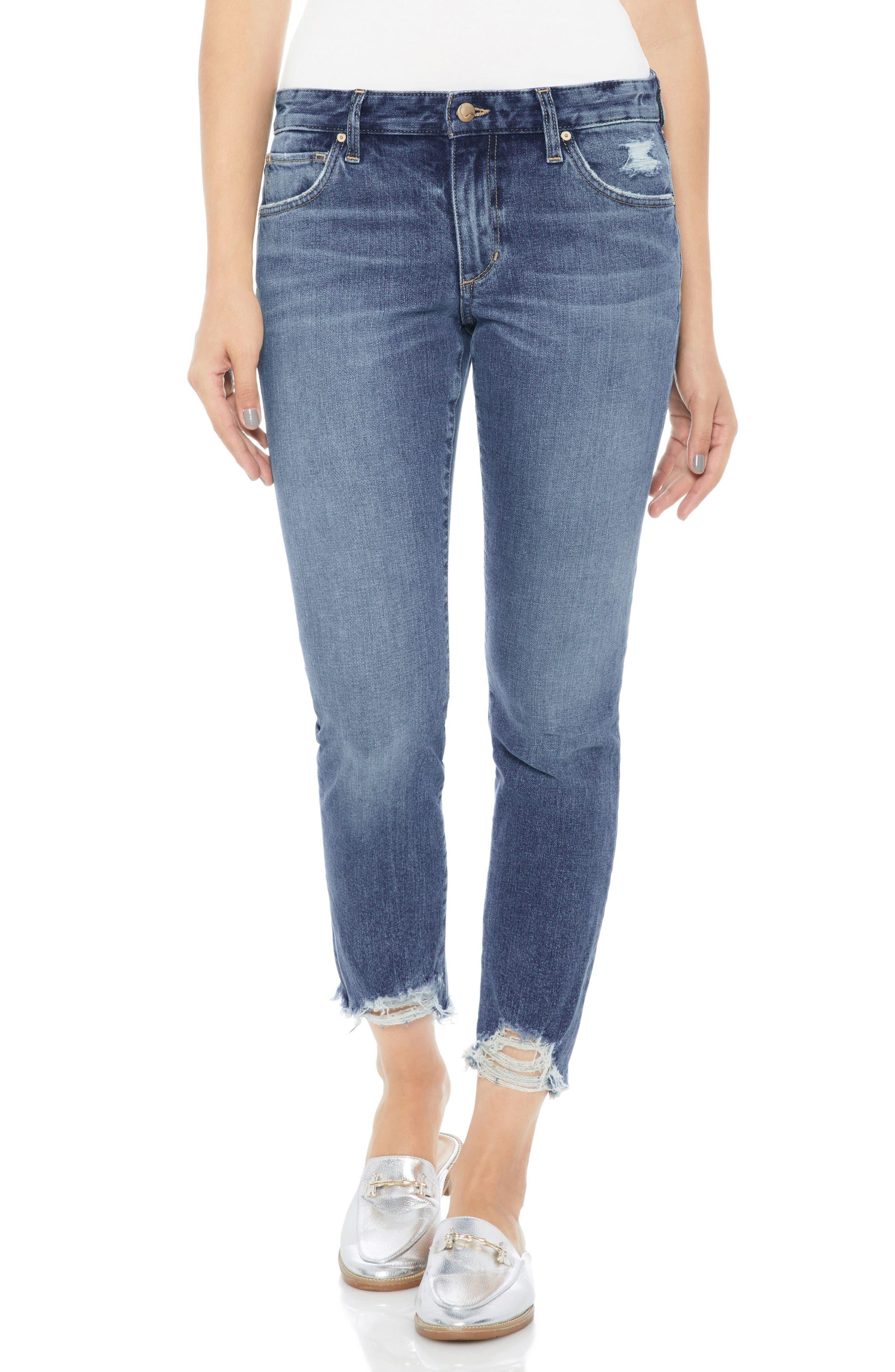 Joe's Smith Distressed Crop Straight Leg Jeans (Skyler)
