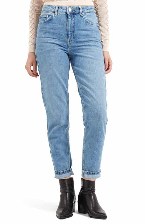 Topshop High Waist Light Denim Mom Jeans By TOPSHOP by TOPSHOP Sale