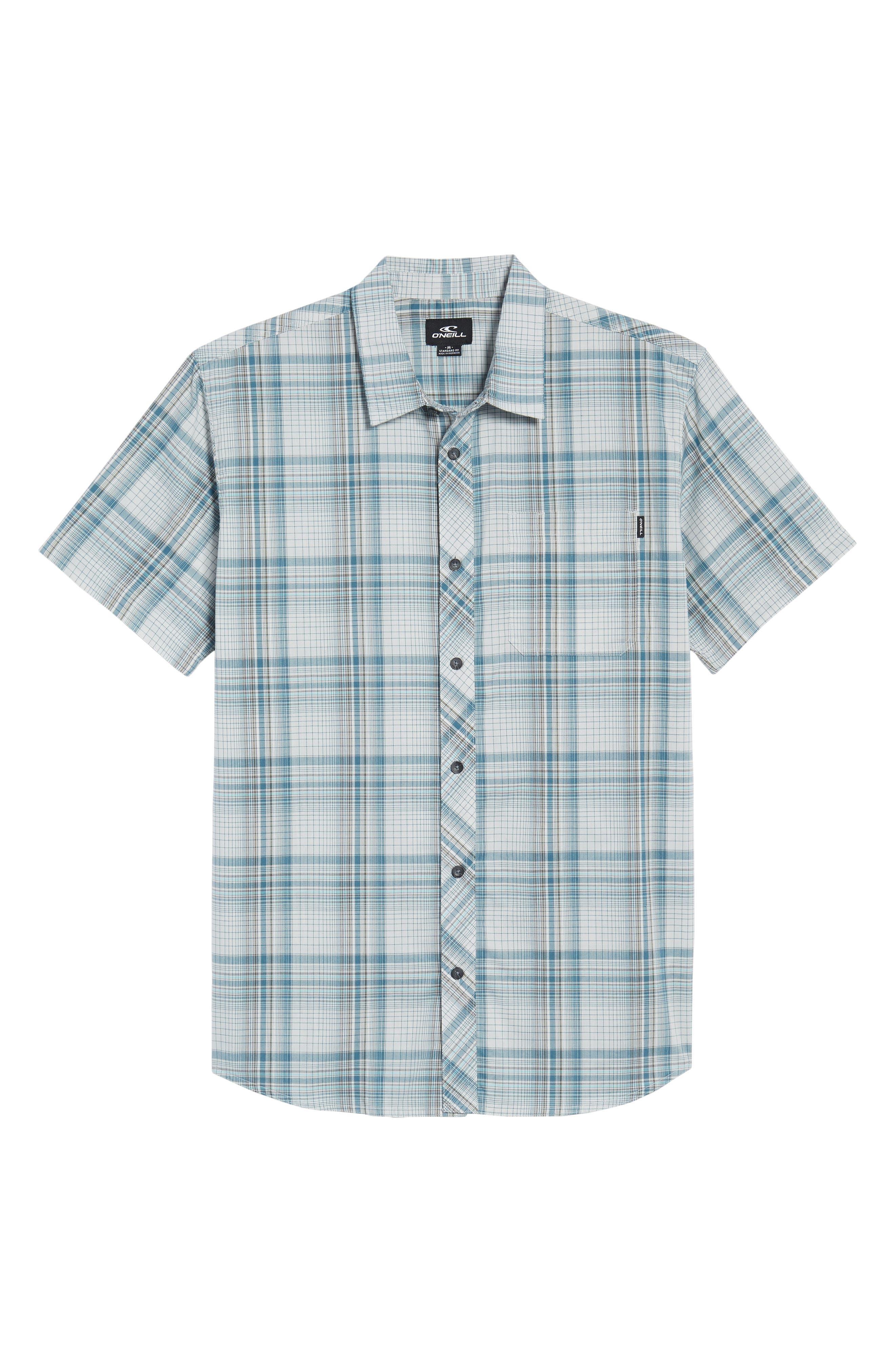 Gentry Short Sleeve Shirt,                             Alternate thumbnail 6, color,                             White