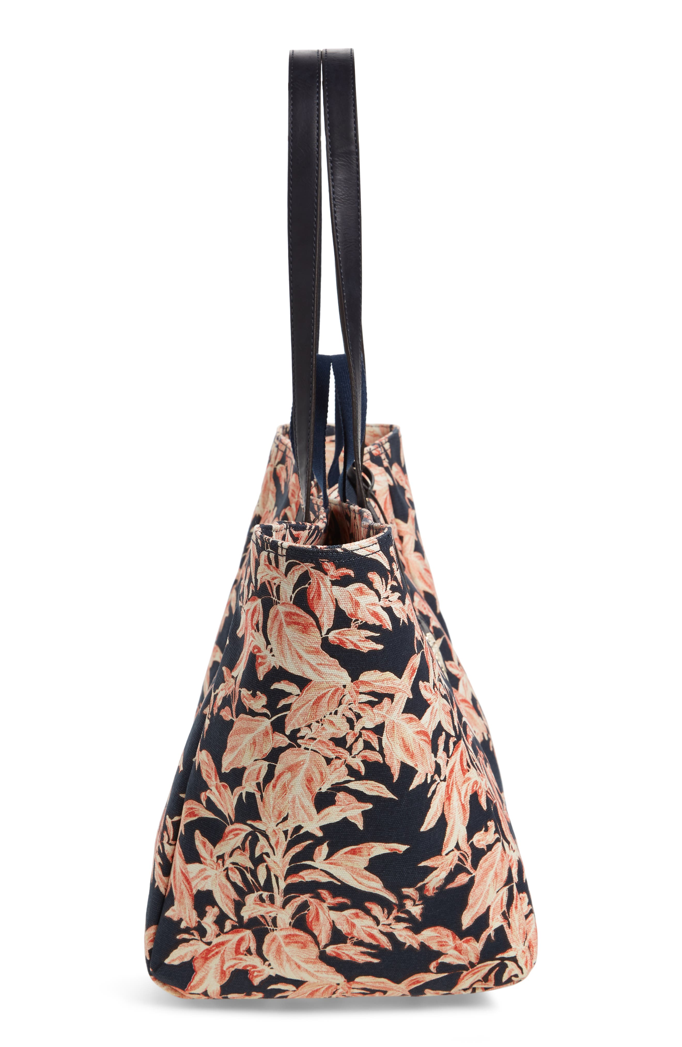 La Plancha Beach Tote,                             Alternate thumbnail 5, color,                             Navy
