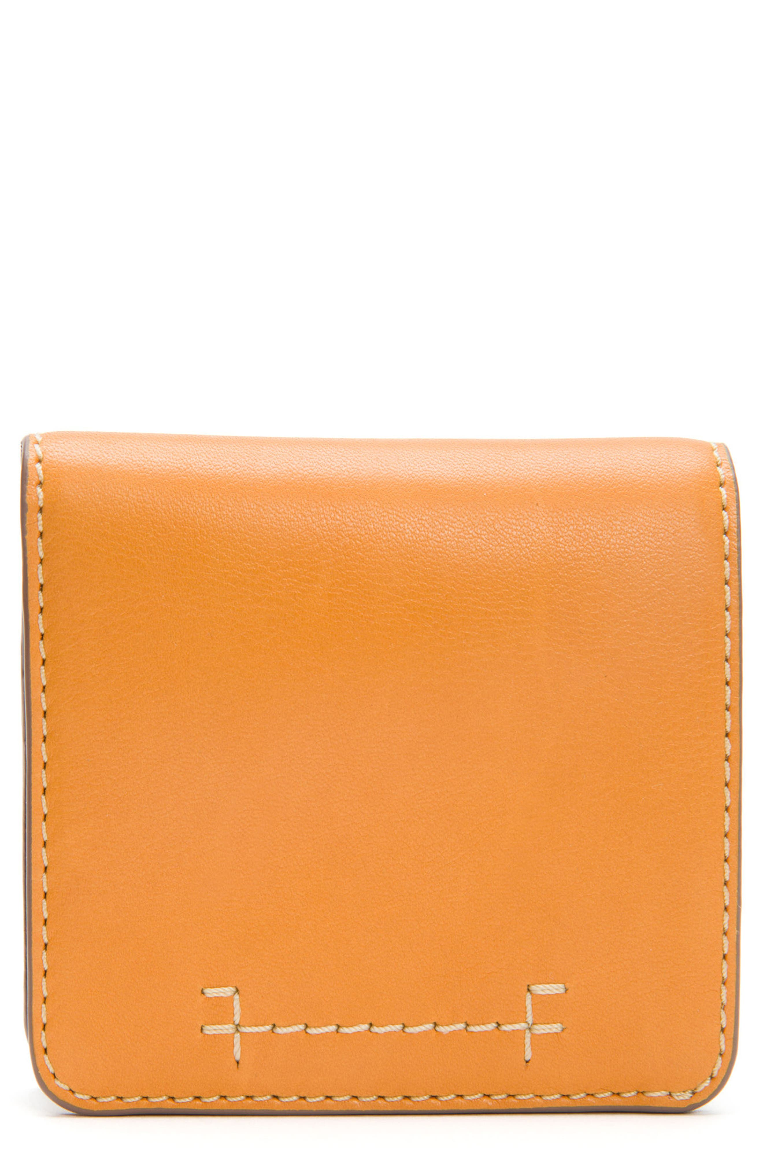 Carson Small Leather Wallet,                             Main thumbnail 1, color,                             Sunrise
