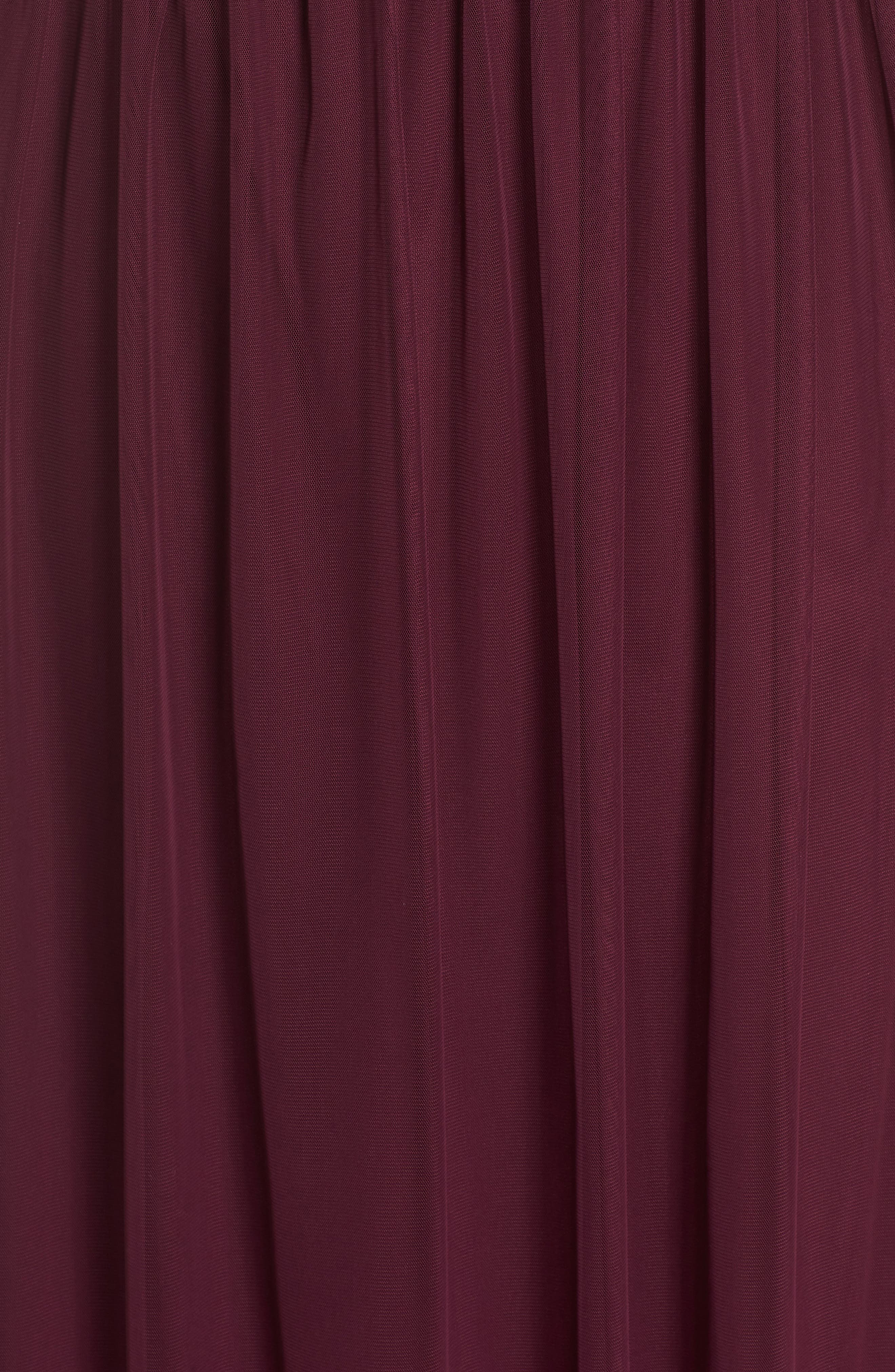 Beaded Gown,                             Alternate thumbnail 5, color,                             Cabernet