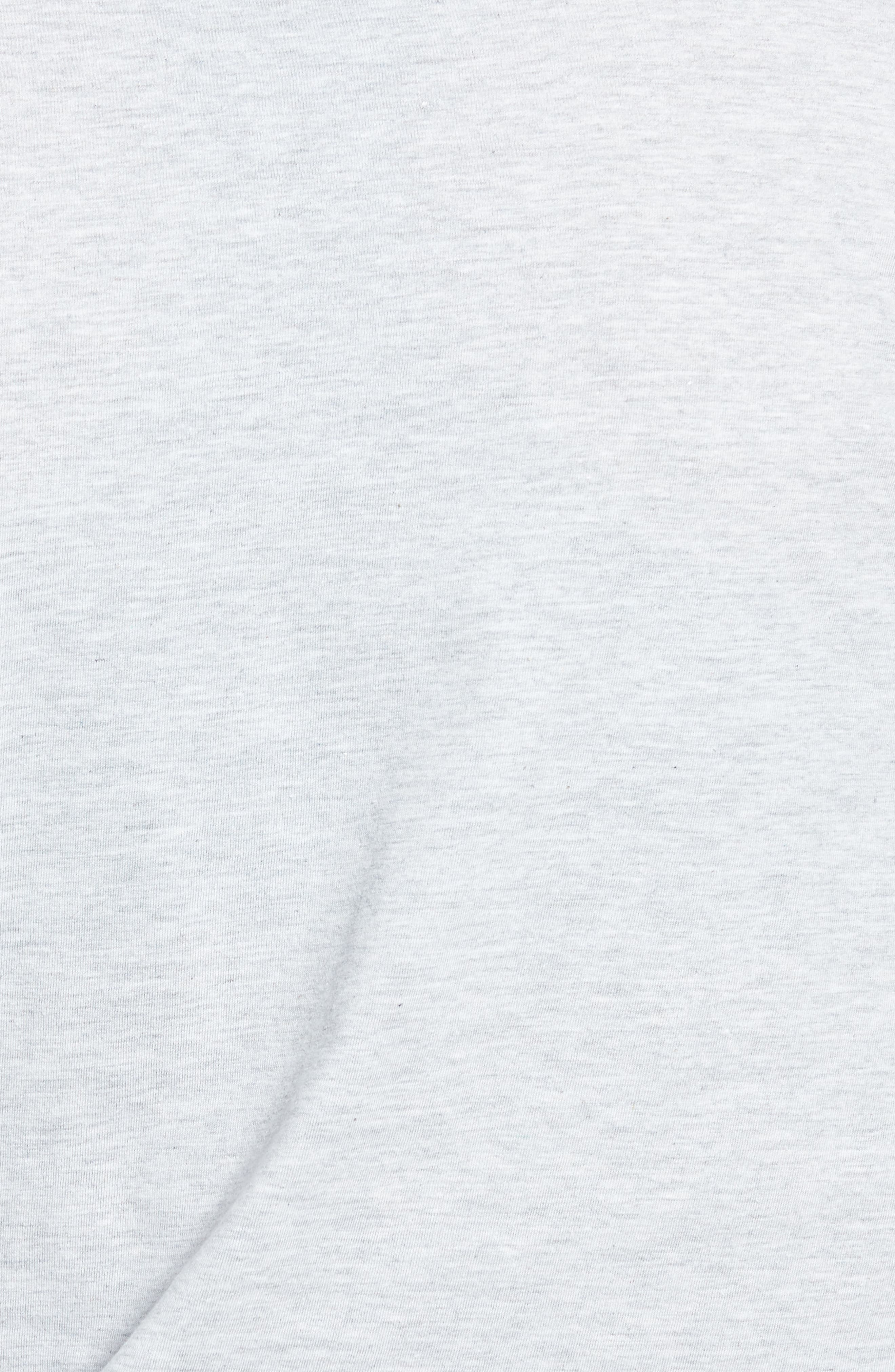 Dotted Logo Oversized Tee,                             Alternate thumbnail 6, color,                             Grey Marl