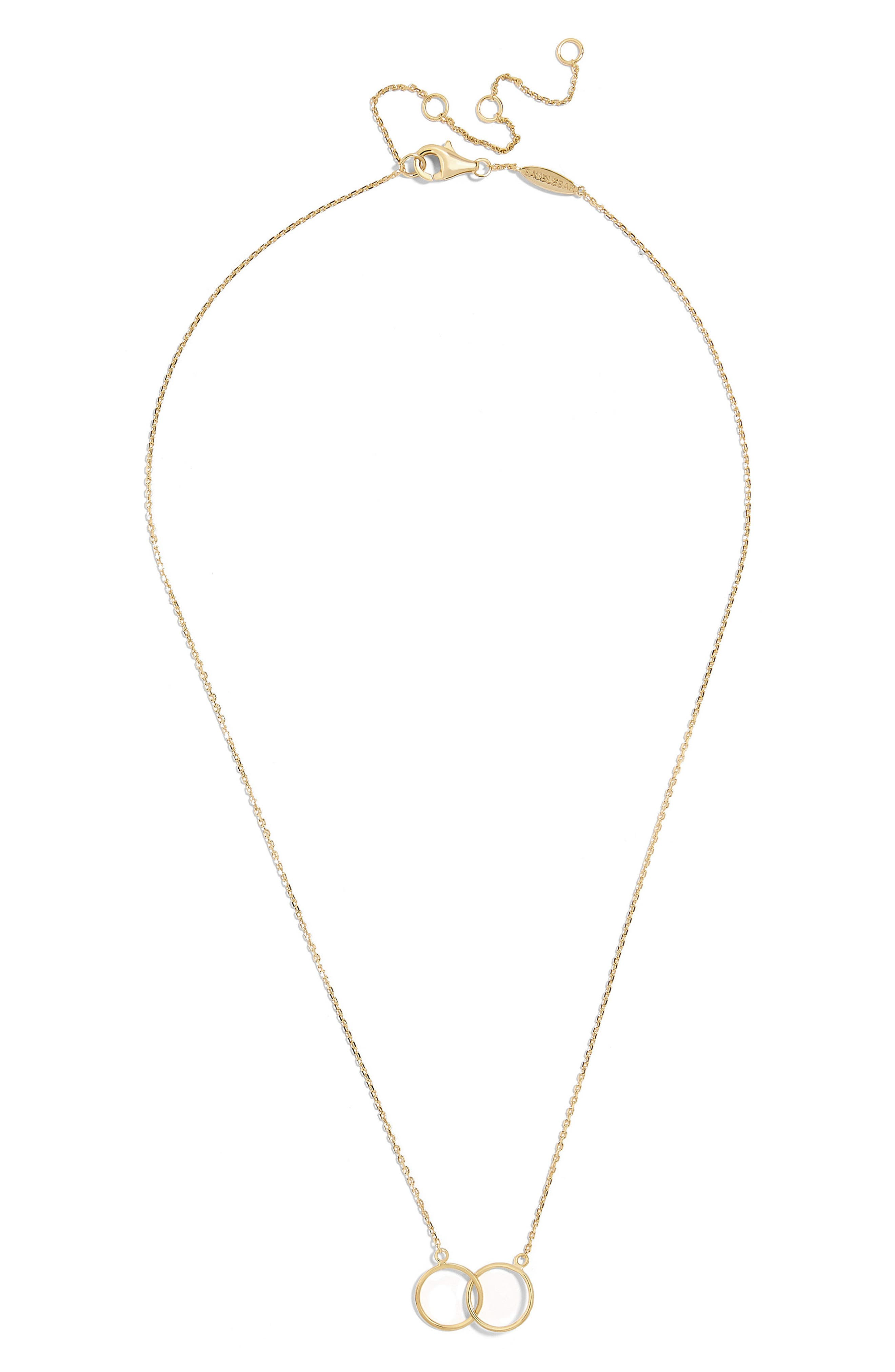 Connesso Everyday Fine Pendant Necklace,                             Main thumbnail 1, color,                             Gold