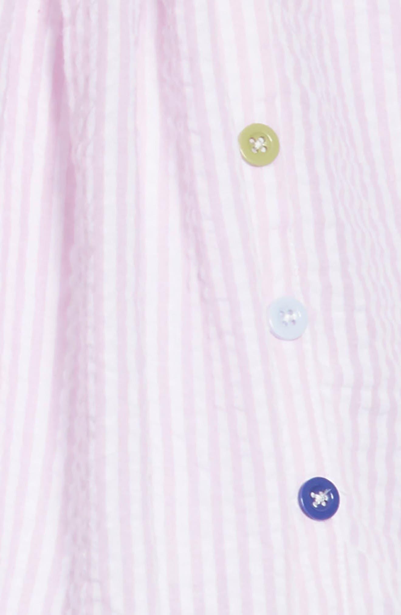 Belinda Seersucker Dress,                             Alternate thumbnail 3, color,                             Lavender