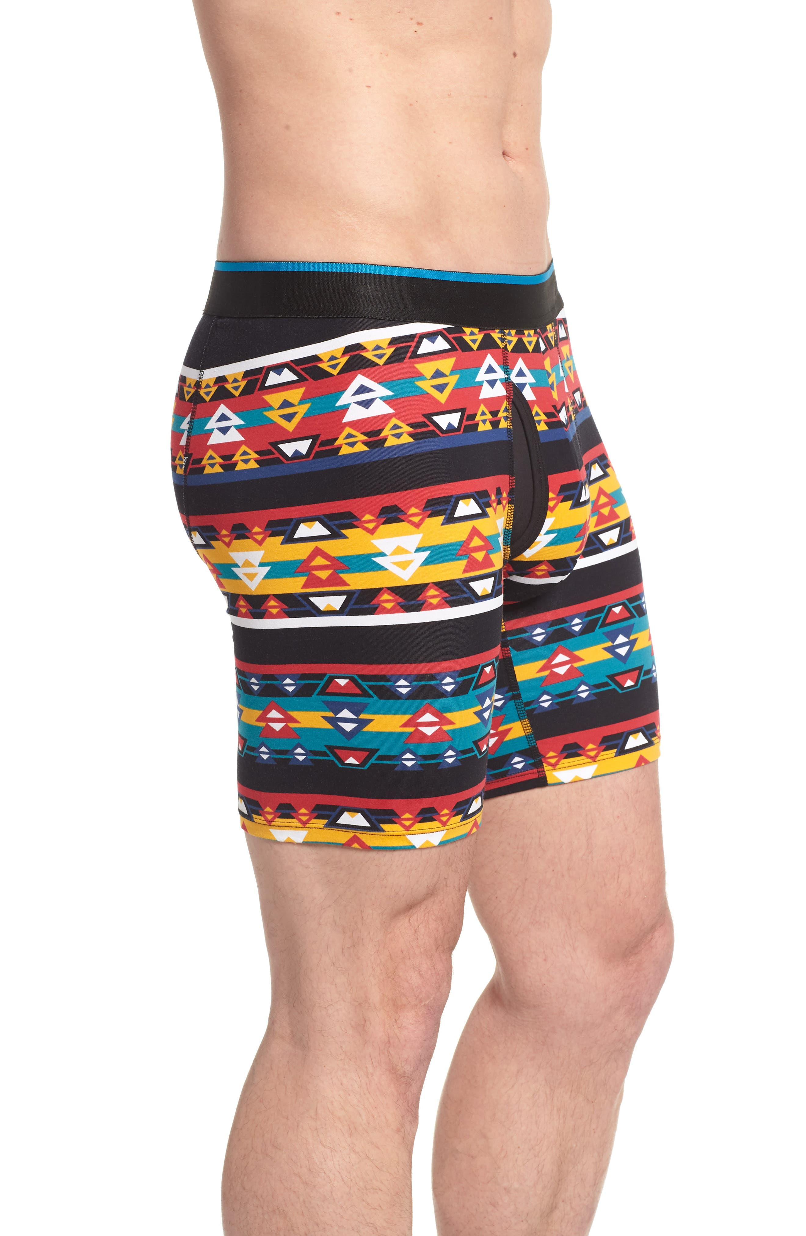 Southwestern Boxer Briefs,                             Alternate thumbnail 3, color,                             Black