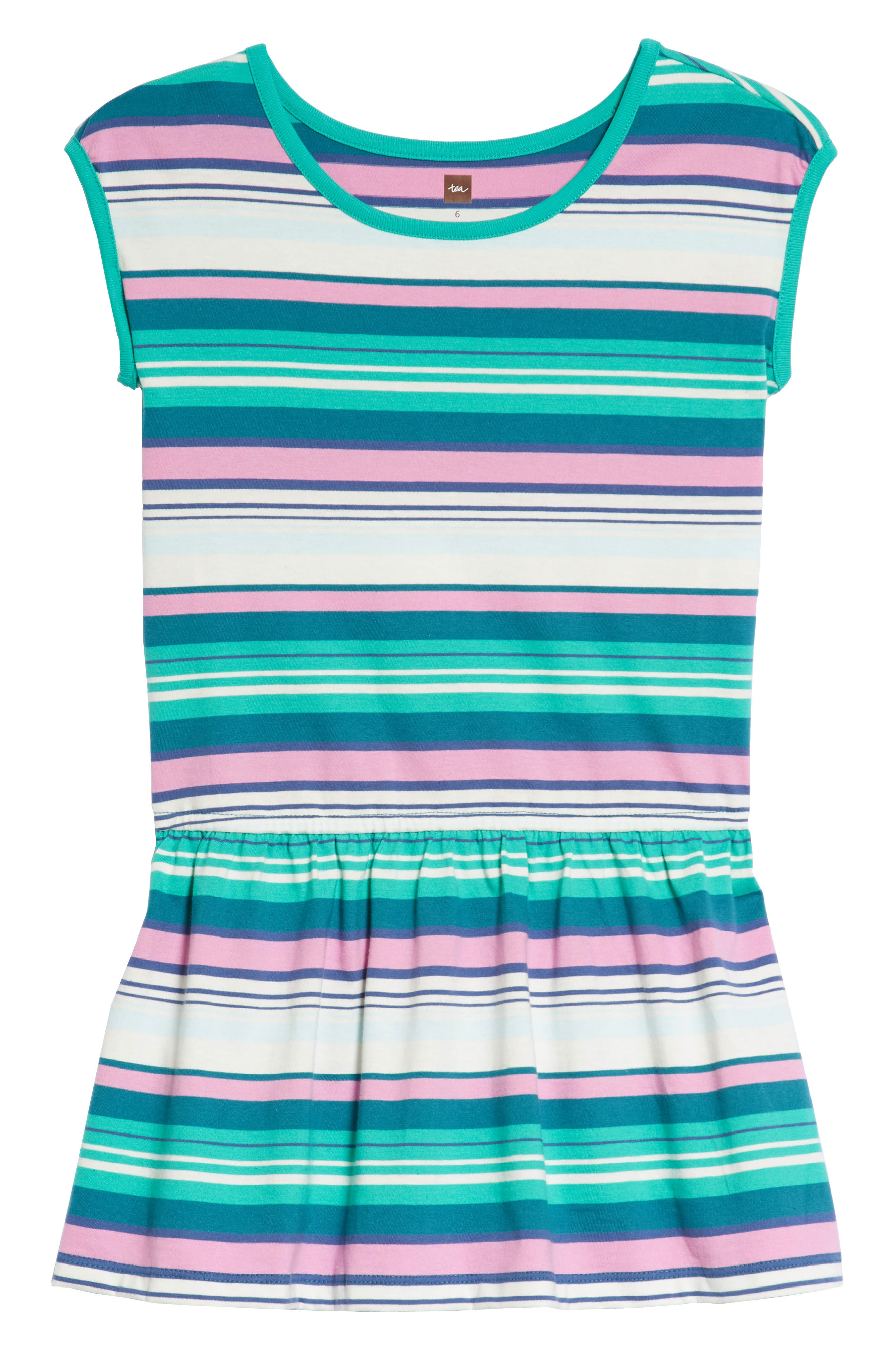 Vibrant Stripe Dress,                         Main,                         color, Scuba