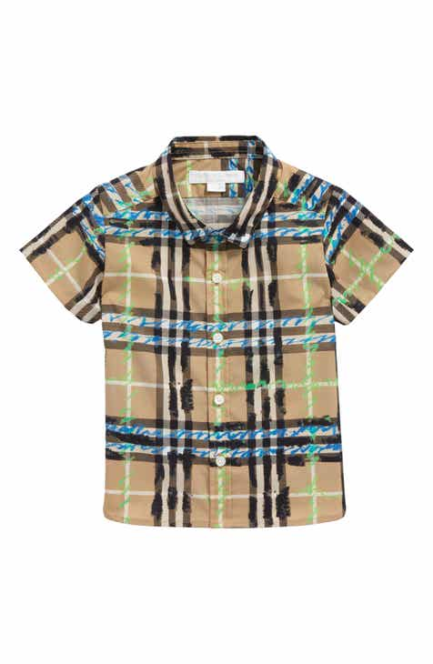 df0b1db96 Burberry Clarkey Scribble Plaid Woven Shirt (Baby Boys)