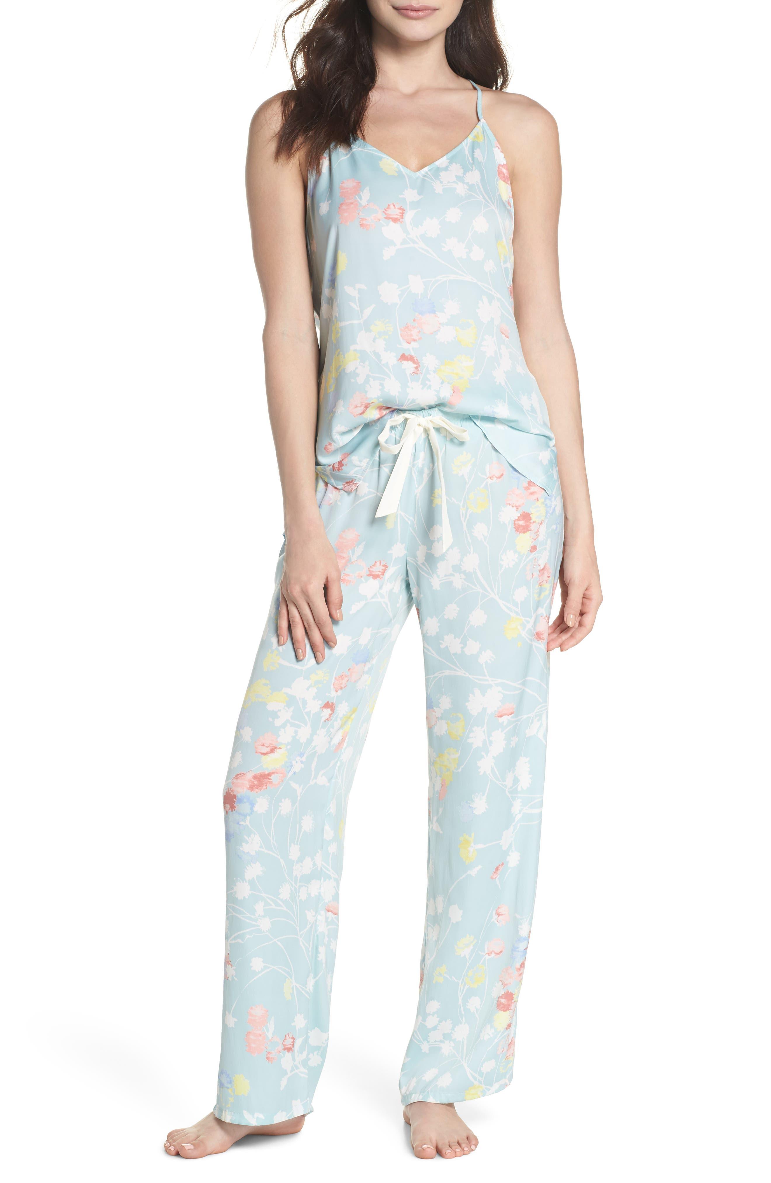 Bardot Dreamland Pajamas,                             Main thumbnail 1, color,                             Sgb Seaglass