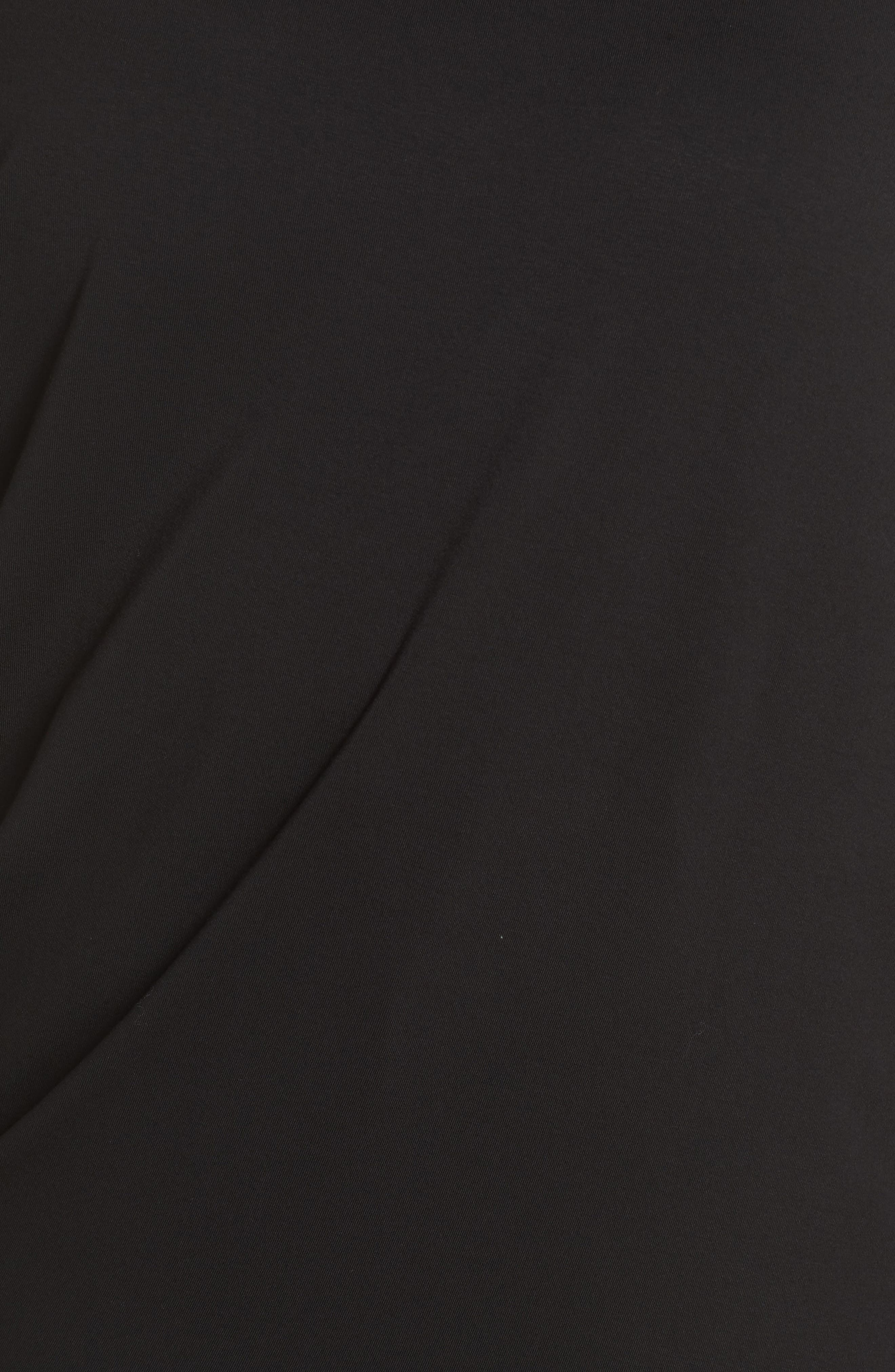 Asymmetrical Tunic Top,                             Alternate thumbnail 6, color,                             Black