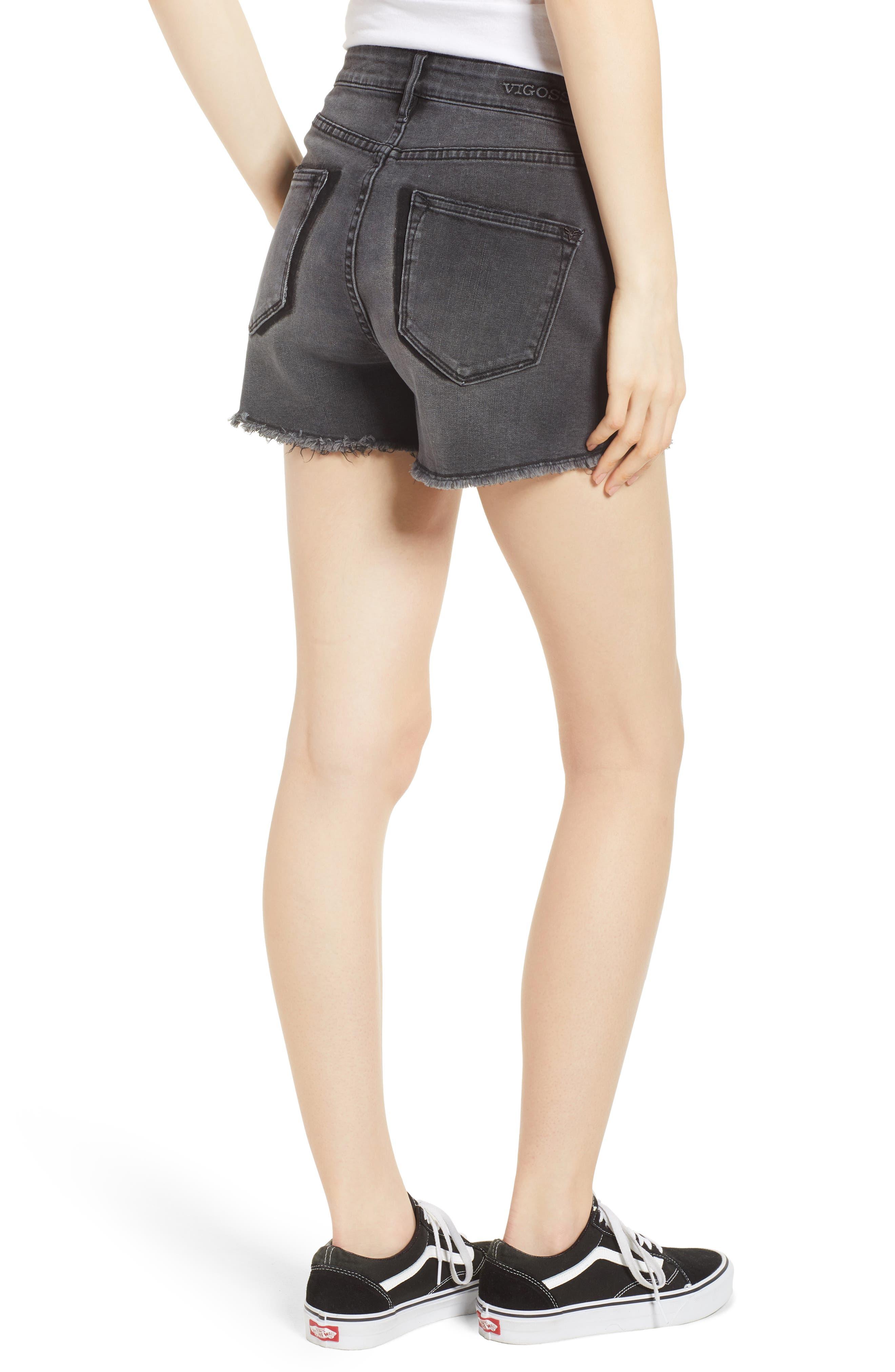 Alternate Image 2  - Vigoss Jagger High Waist Denim Shorts