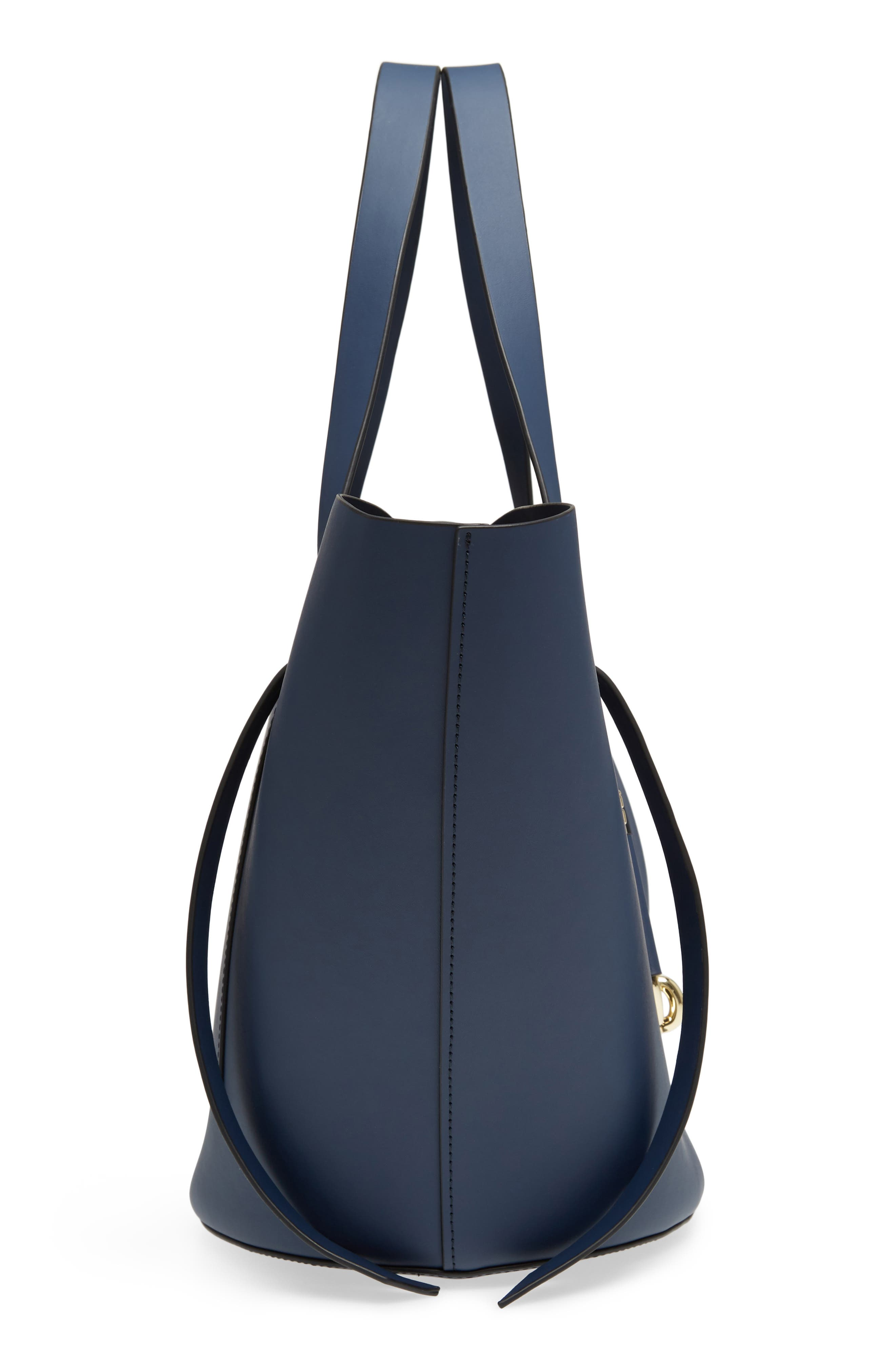 Belay Leather Crossbody Tote,                             Alternate thumbnail 5, color,                             Blue