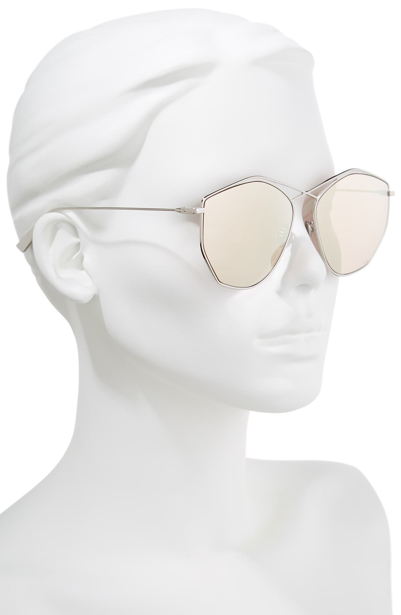 Alternate Image 2  - Dior 59mm Metal Sunglasses