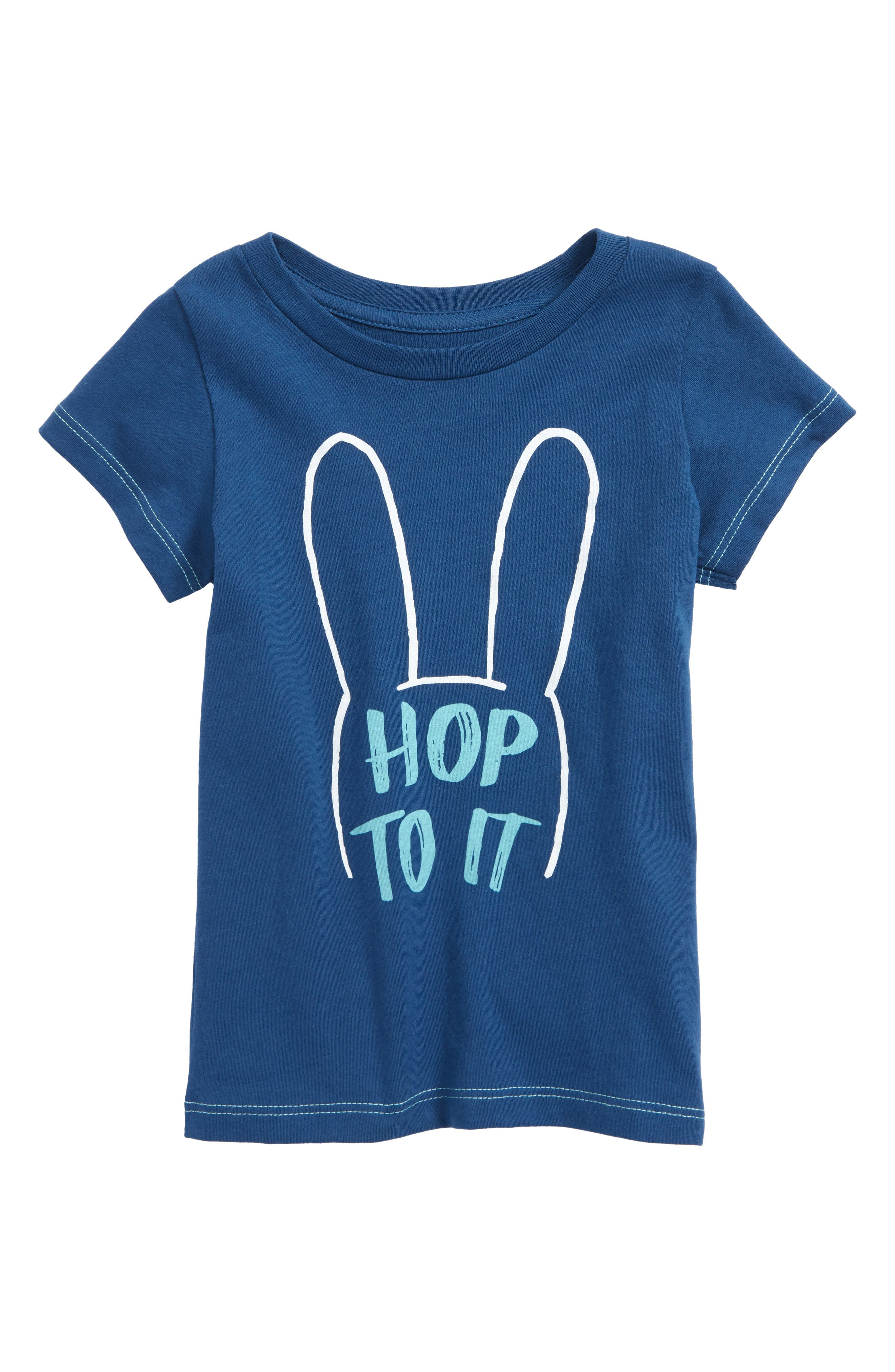 Peek Hop To It Graphic T-Shirt,                         Main,                         color, Teal