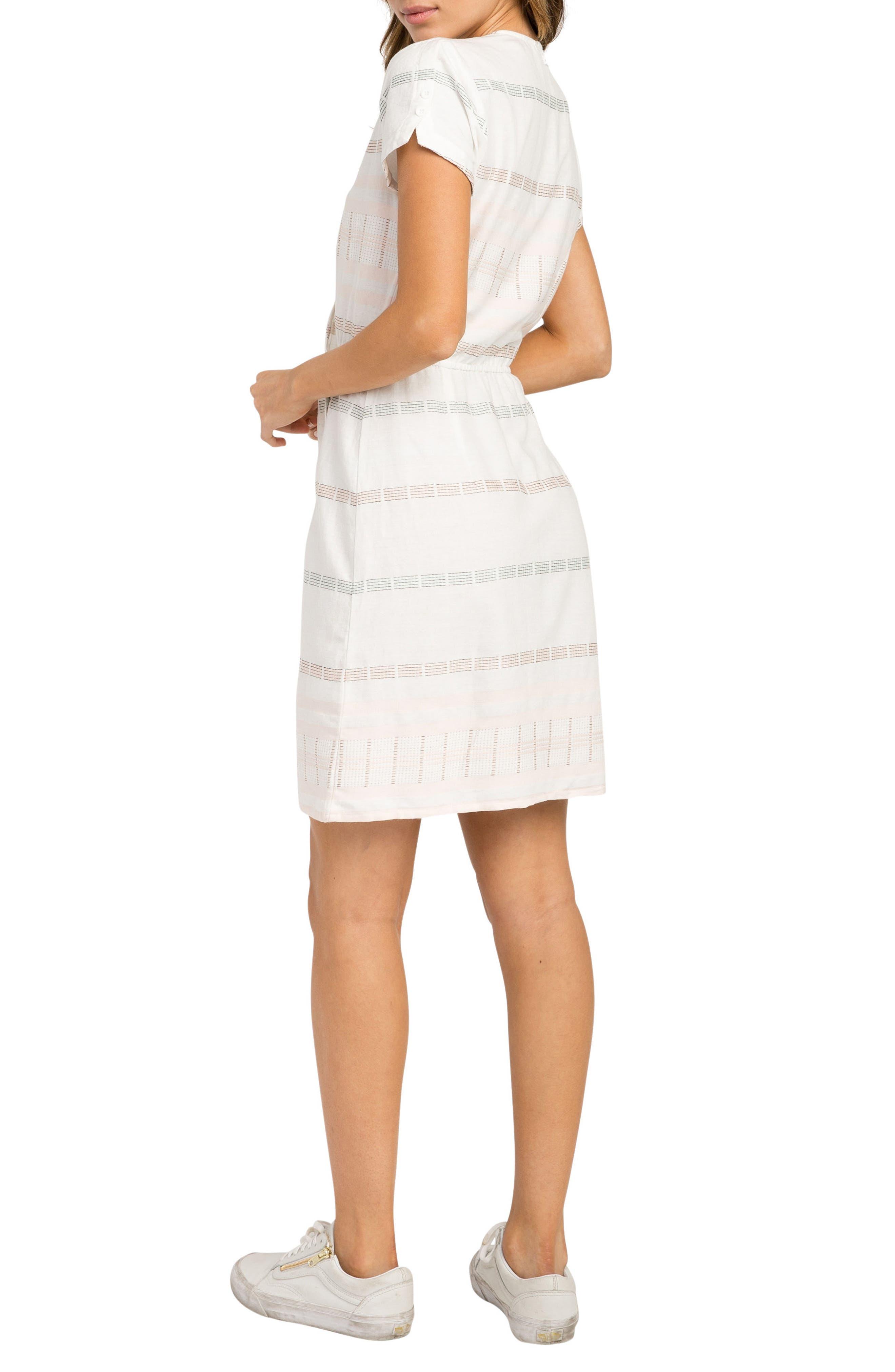 Rose Wrap Dress,                             Alternate thumbnail 2, color,                             Vintage White