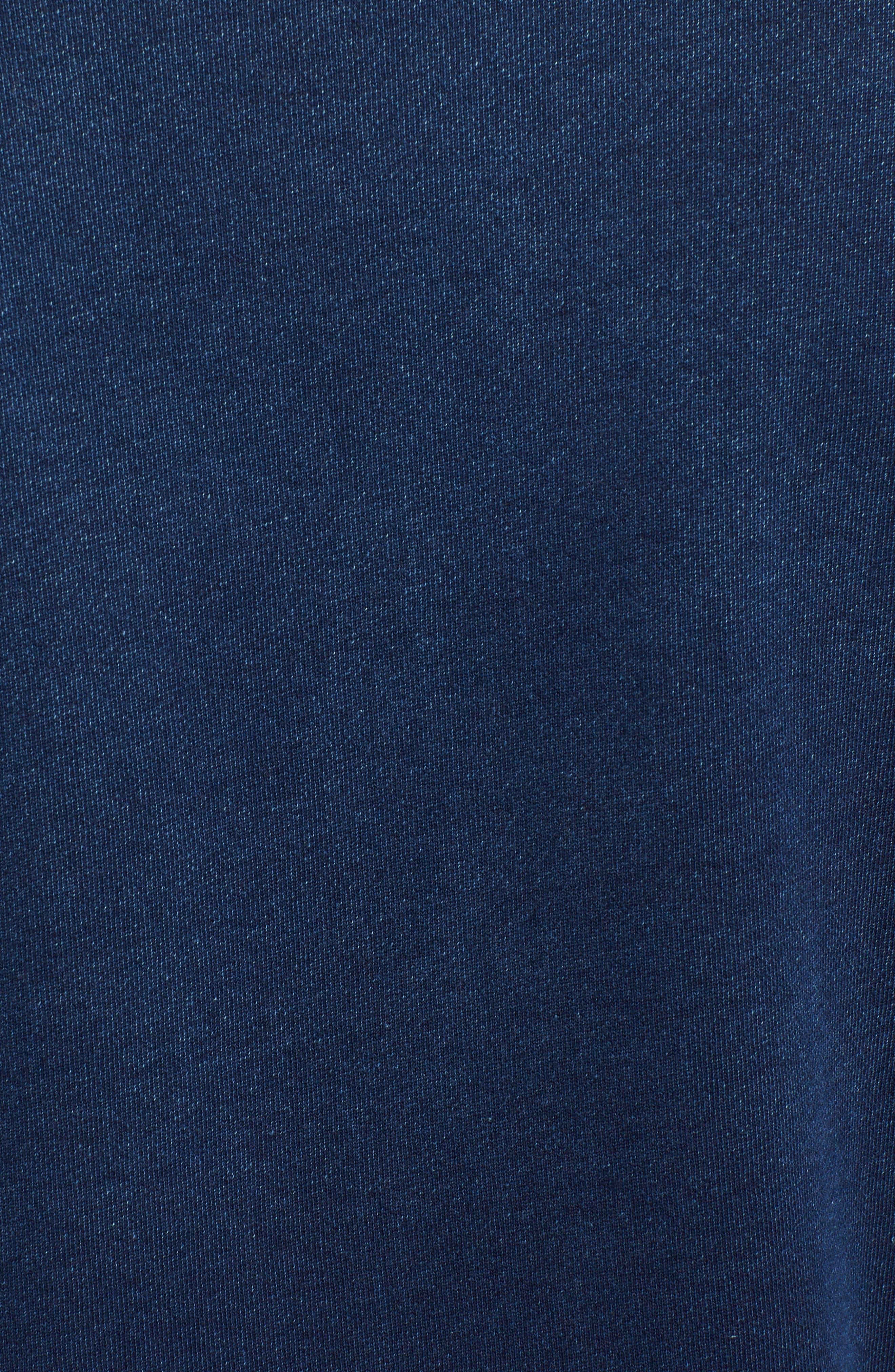 Byron Crewneck Cotton Pocket Sweatshirt,                             Alternate thumbnail 5, color,                             Harbor