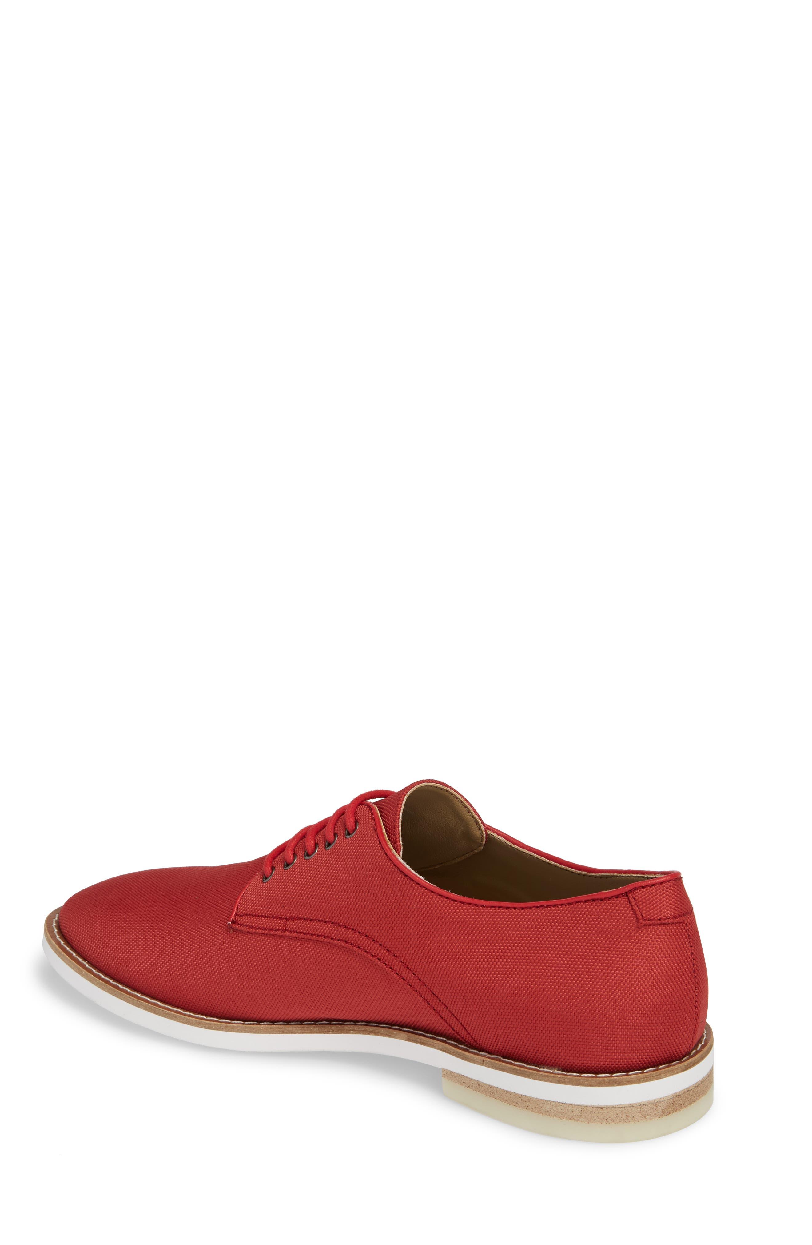 Atlee Plain Toe Derby,                             Alternate thumbnail 2, color,                             Brick Red Nylon