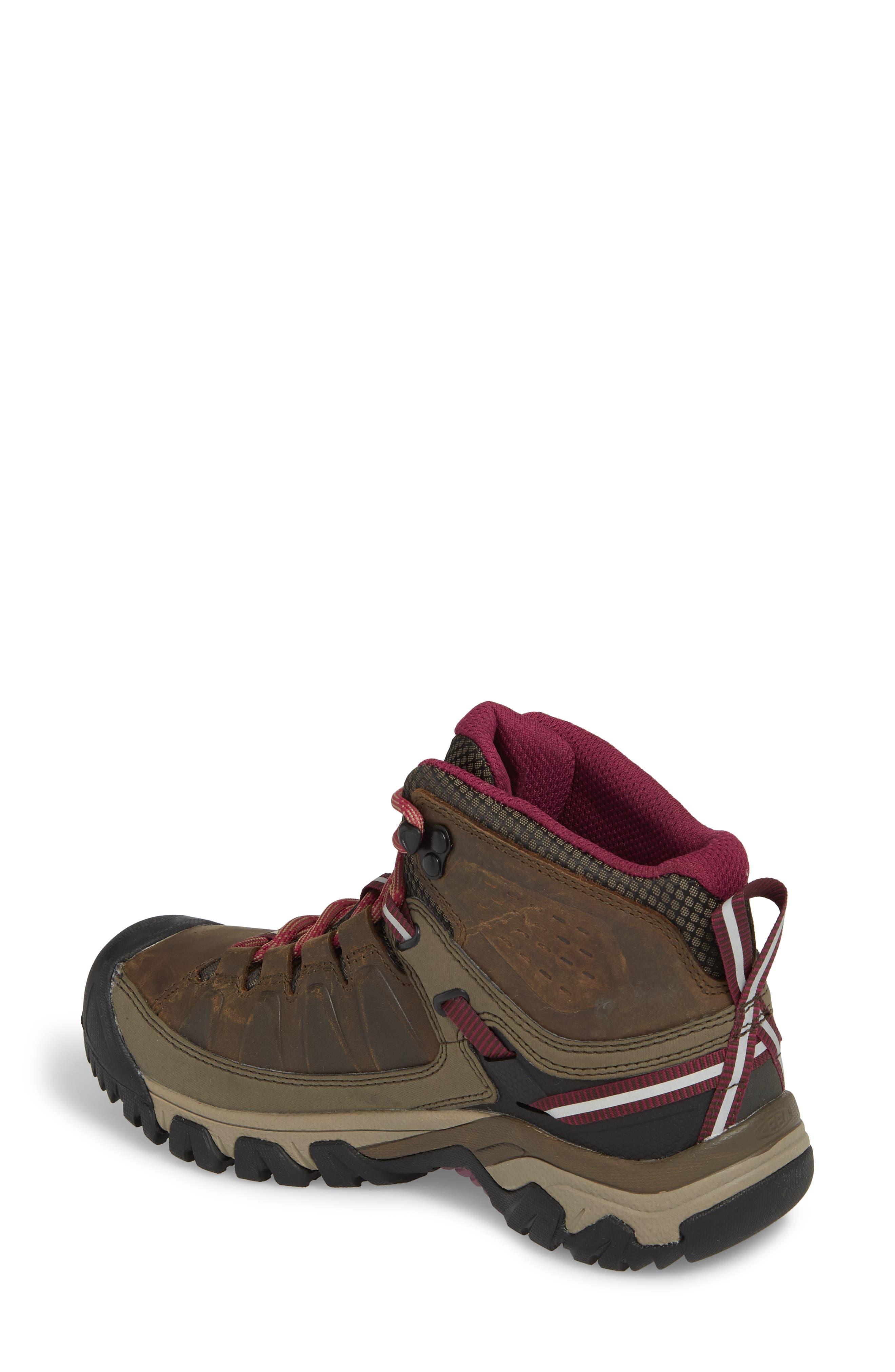 Targhee III Mid Waterproof Hiking Boot,                             Alternate thumbnail 2, color,                             Weiss/ Boysenberry Leather