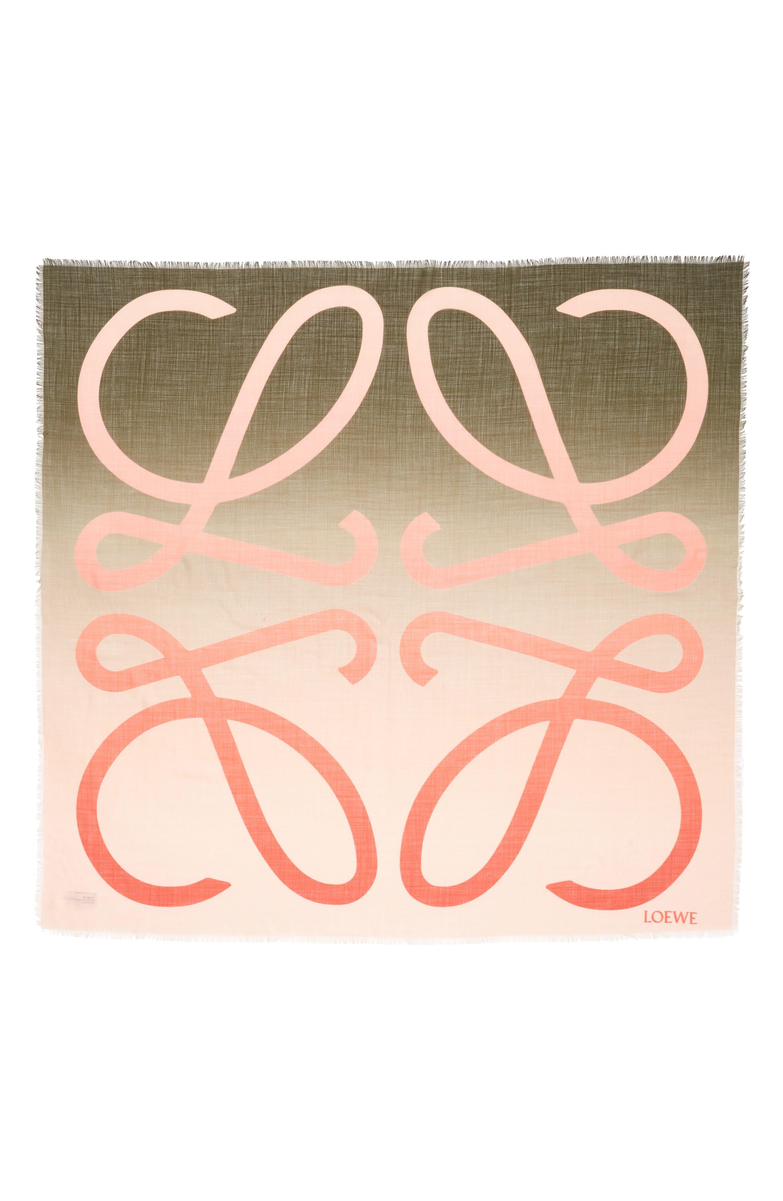 Loewe Ombré Anagram Wool Scarf
