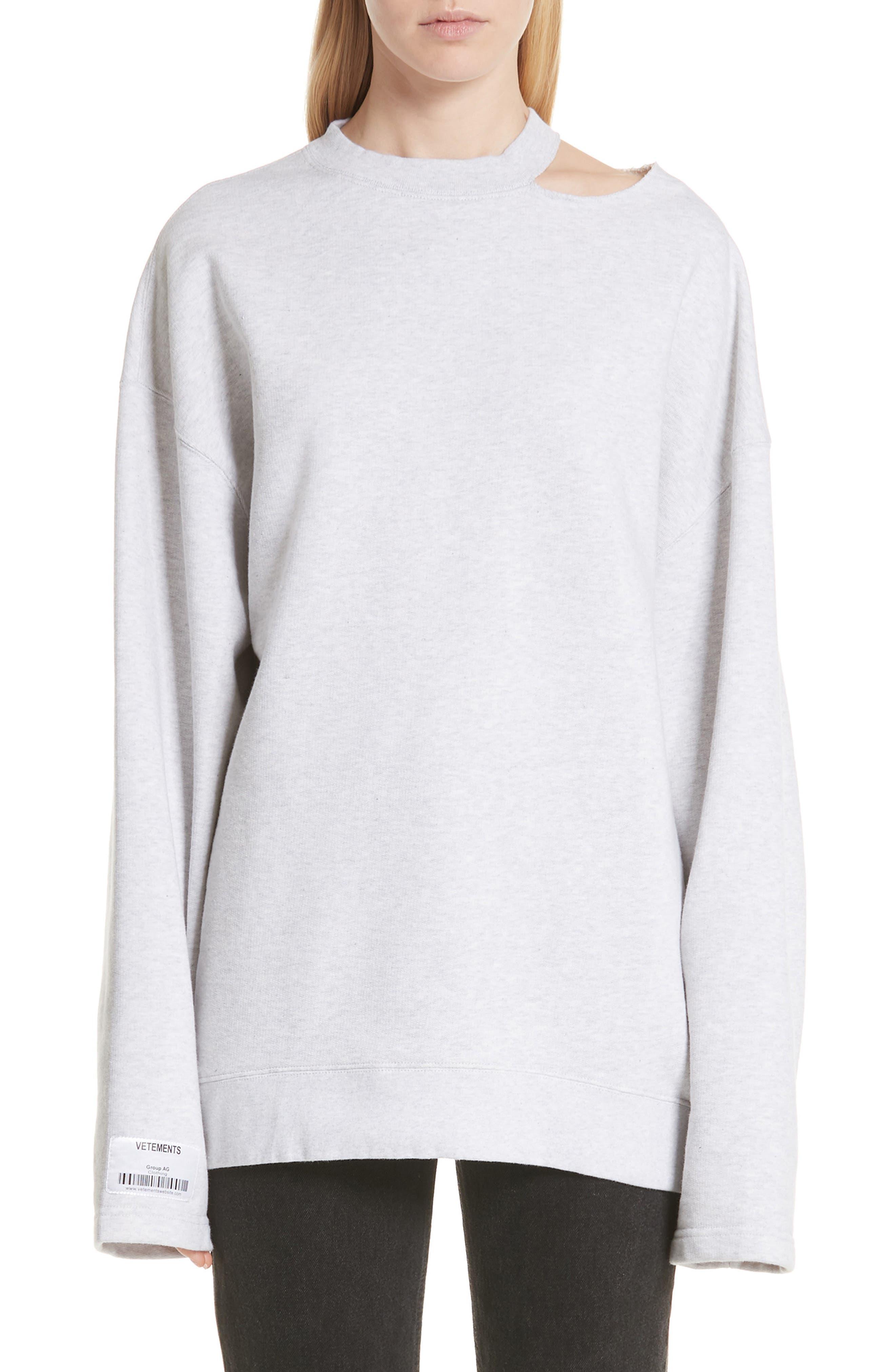 Vetements Shoulder Cutout Sweater