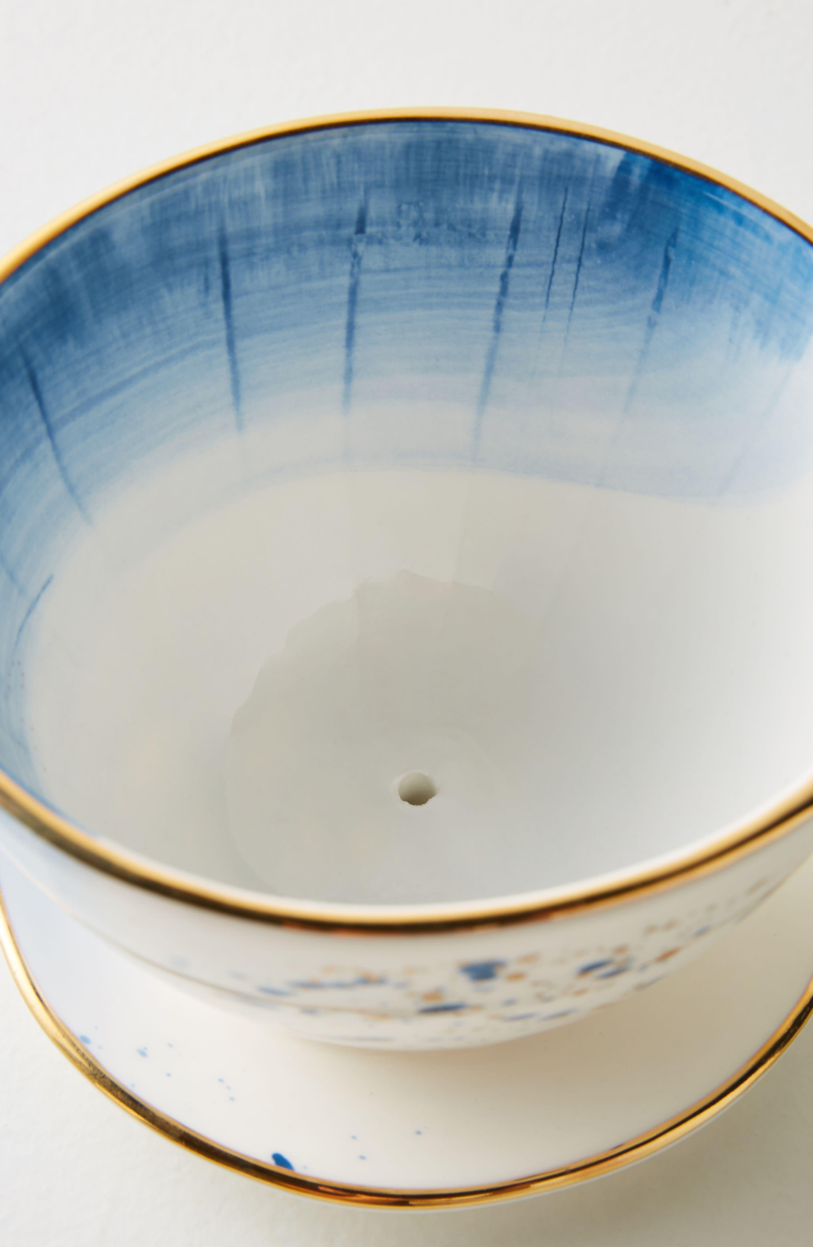 Mimira Ceramic Pour-Over Coffeemaker,                             Alternate thumbnail 2, color,                             Blue Combo