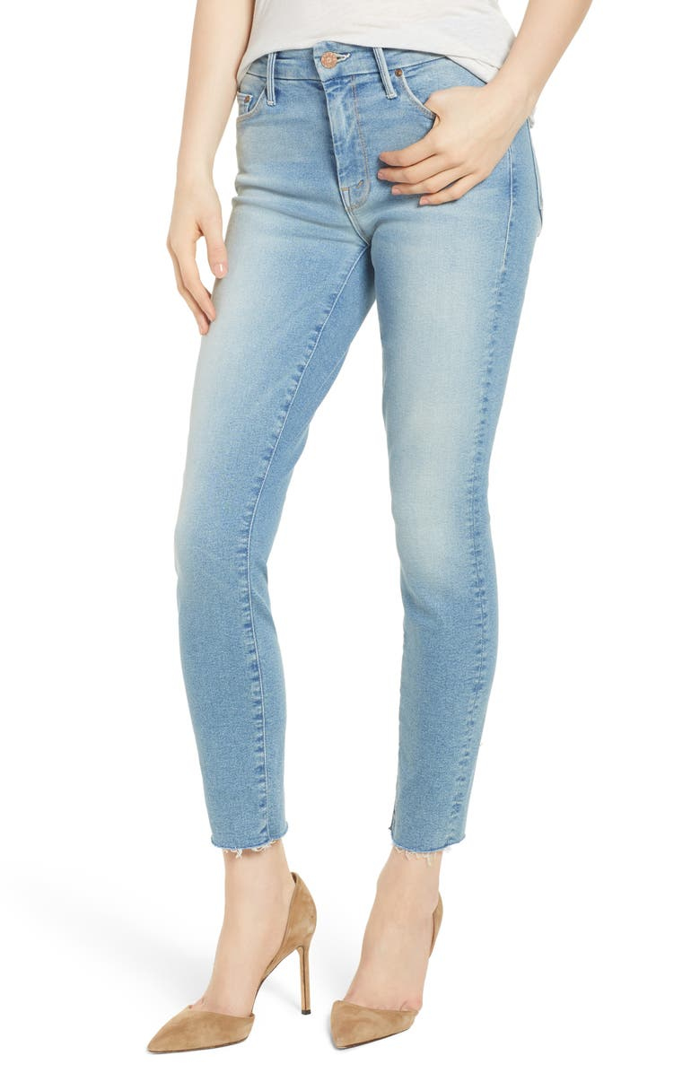 The Looker Fray Ankle Skinny Jeans