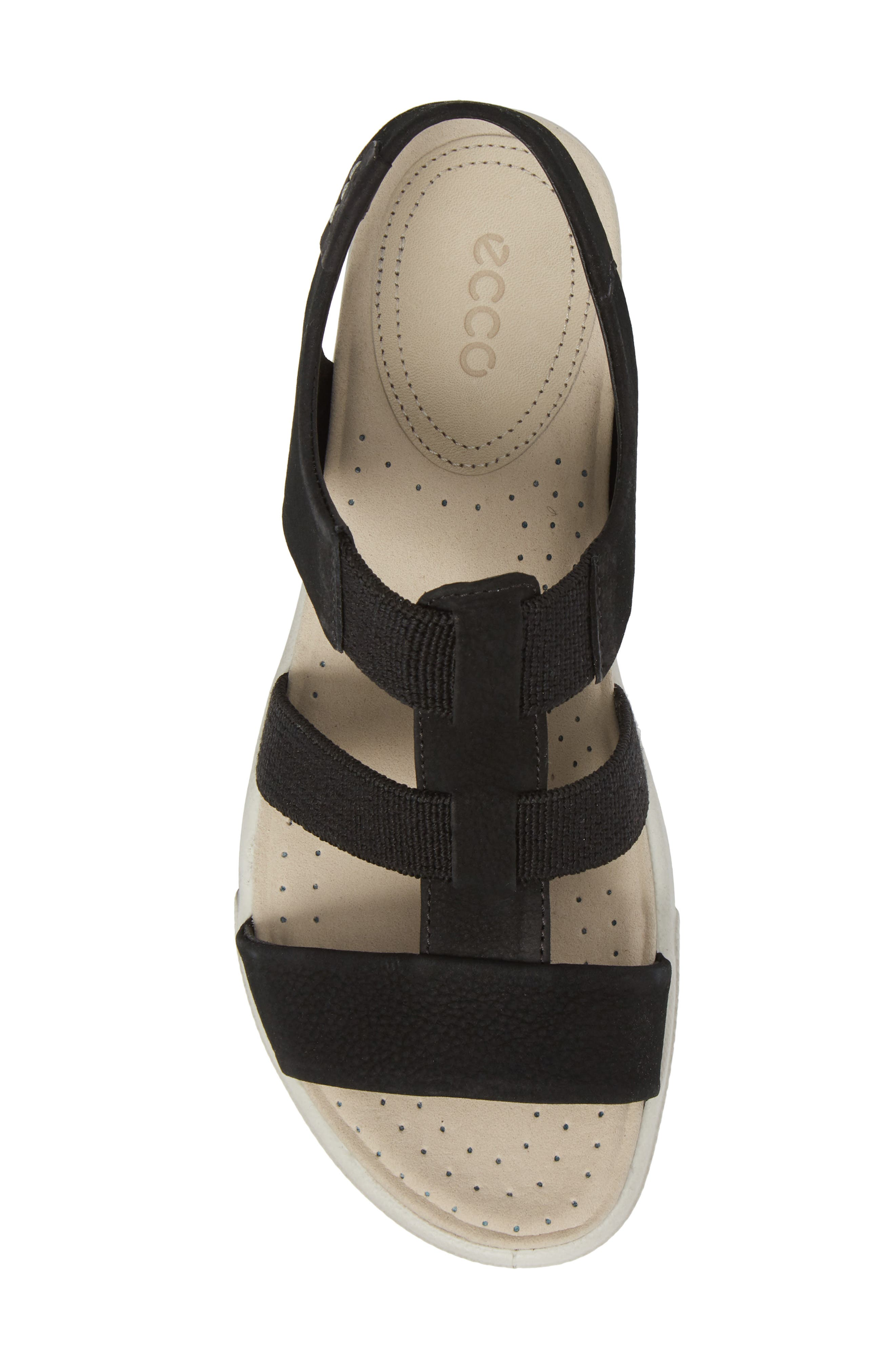 Damara Sandal,                             Alternate thumbnail 5, color,                             Black Leather