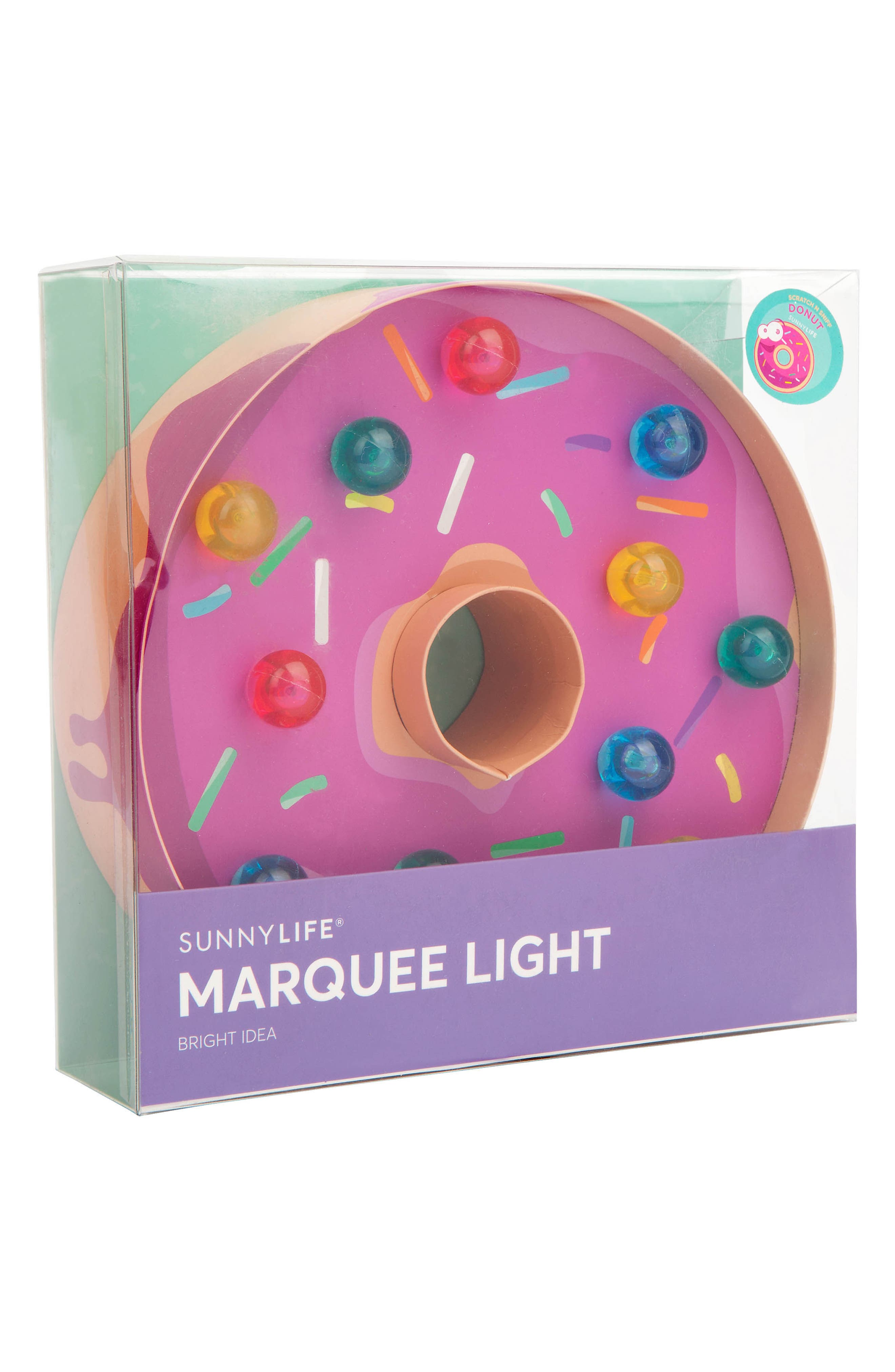Donut Marquee Light,                             Alternate thumbnail 2, color,                             Pink