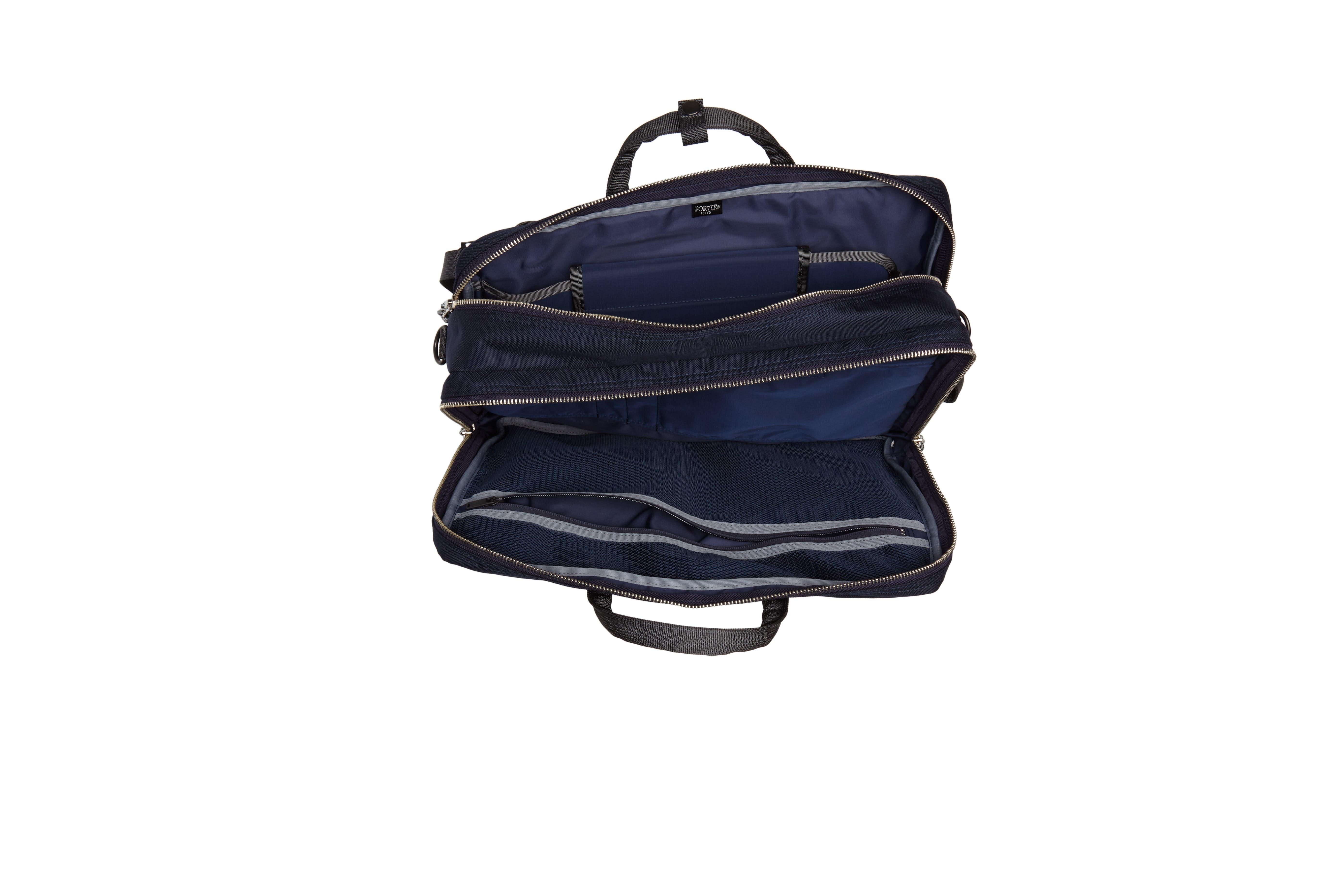 Porter-Yoshida & Co. Hype Convertible Briefcase,                             Alternate thumbnail 4, color,                             Navy/ Black