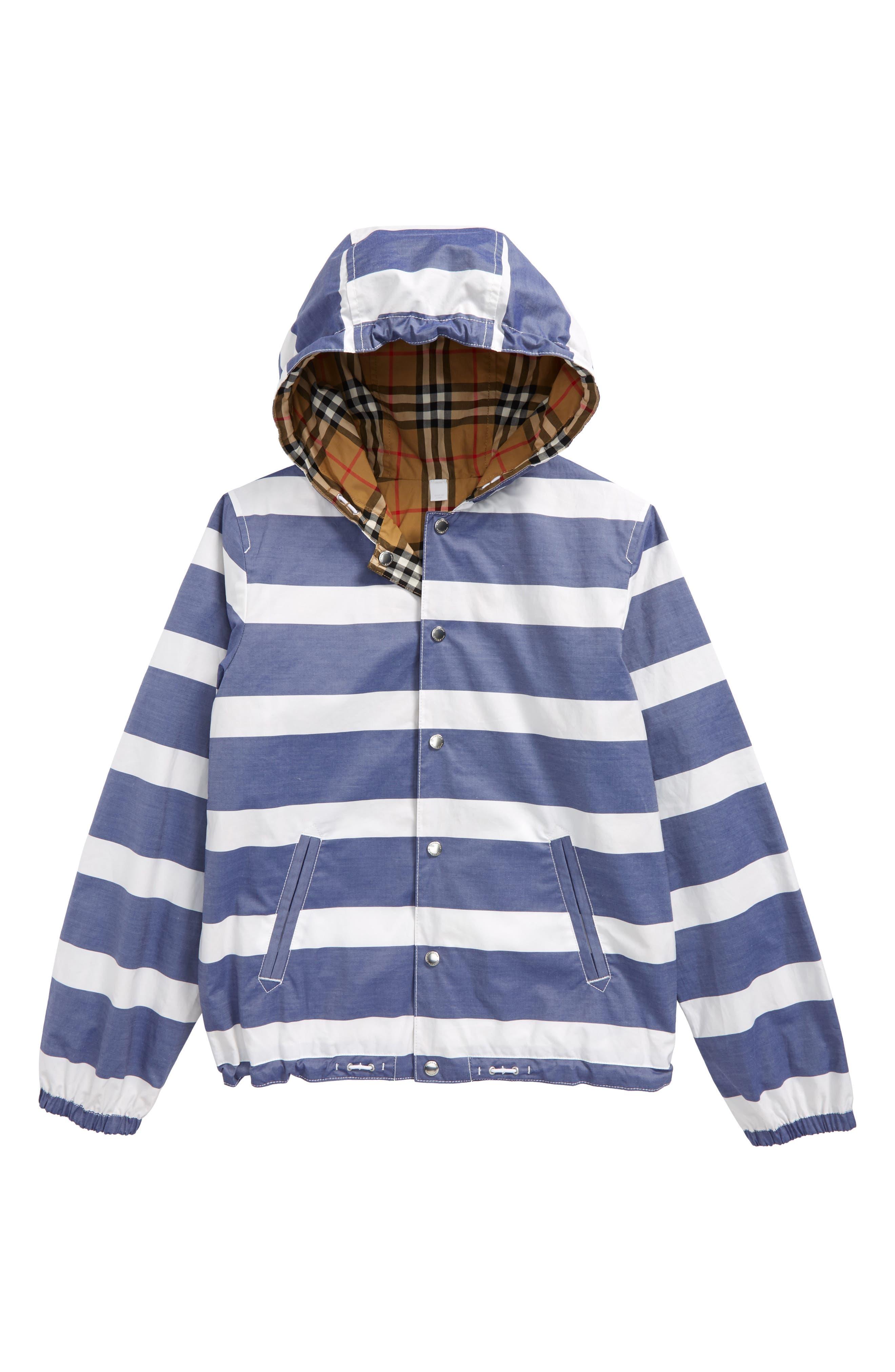 Mayer Reversible Hooded Jacket,                             Main thumbnail 1, color,                             Navy/ White