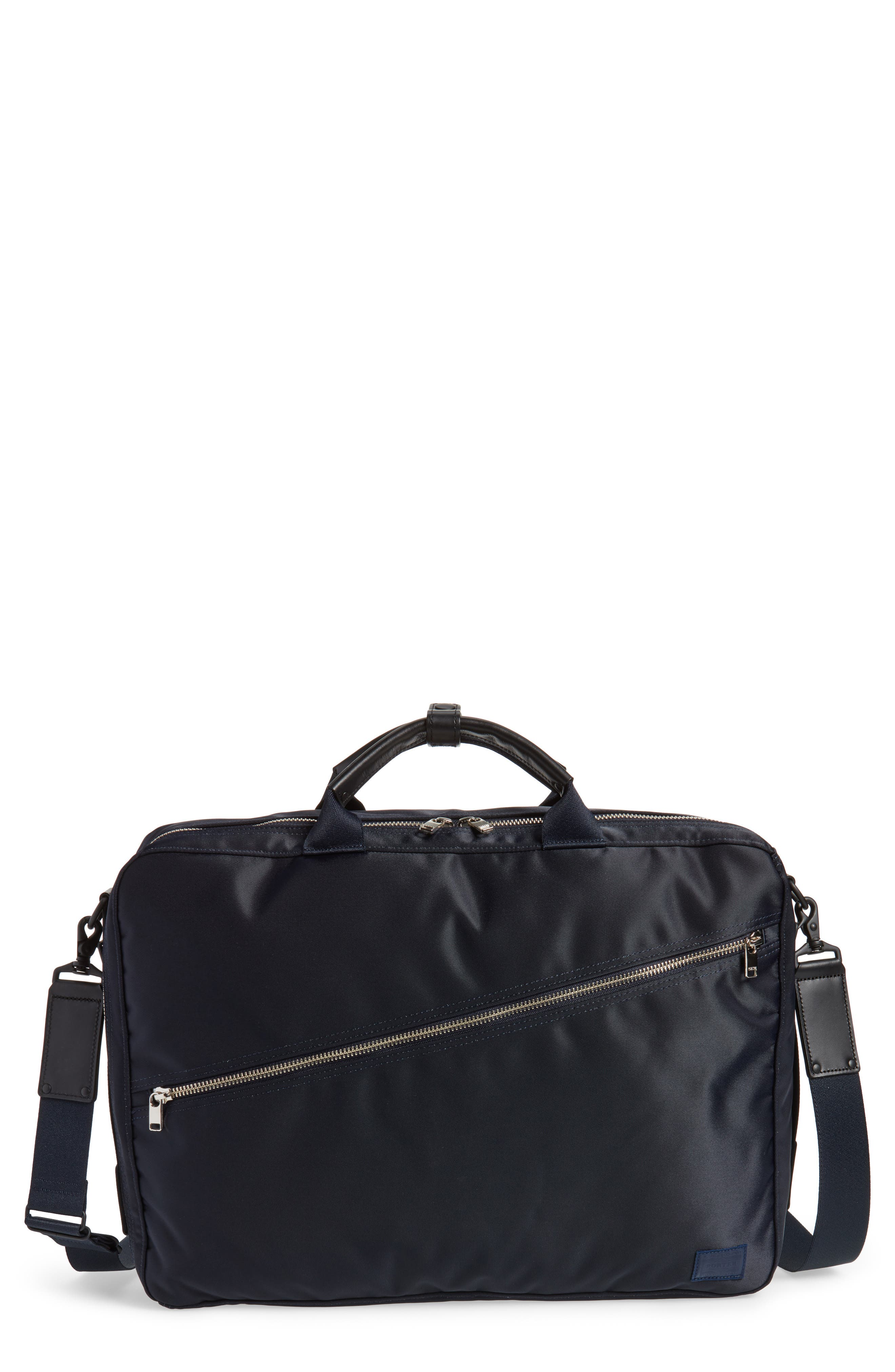 Porter-Yoshida & Co. Lift Convertible Briefcase,                             Main thumbnail 1, color,                             Navy