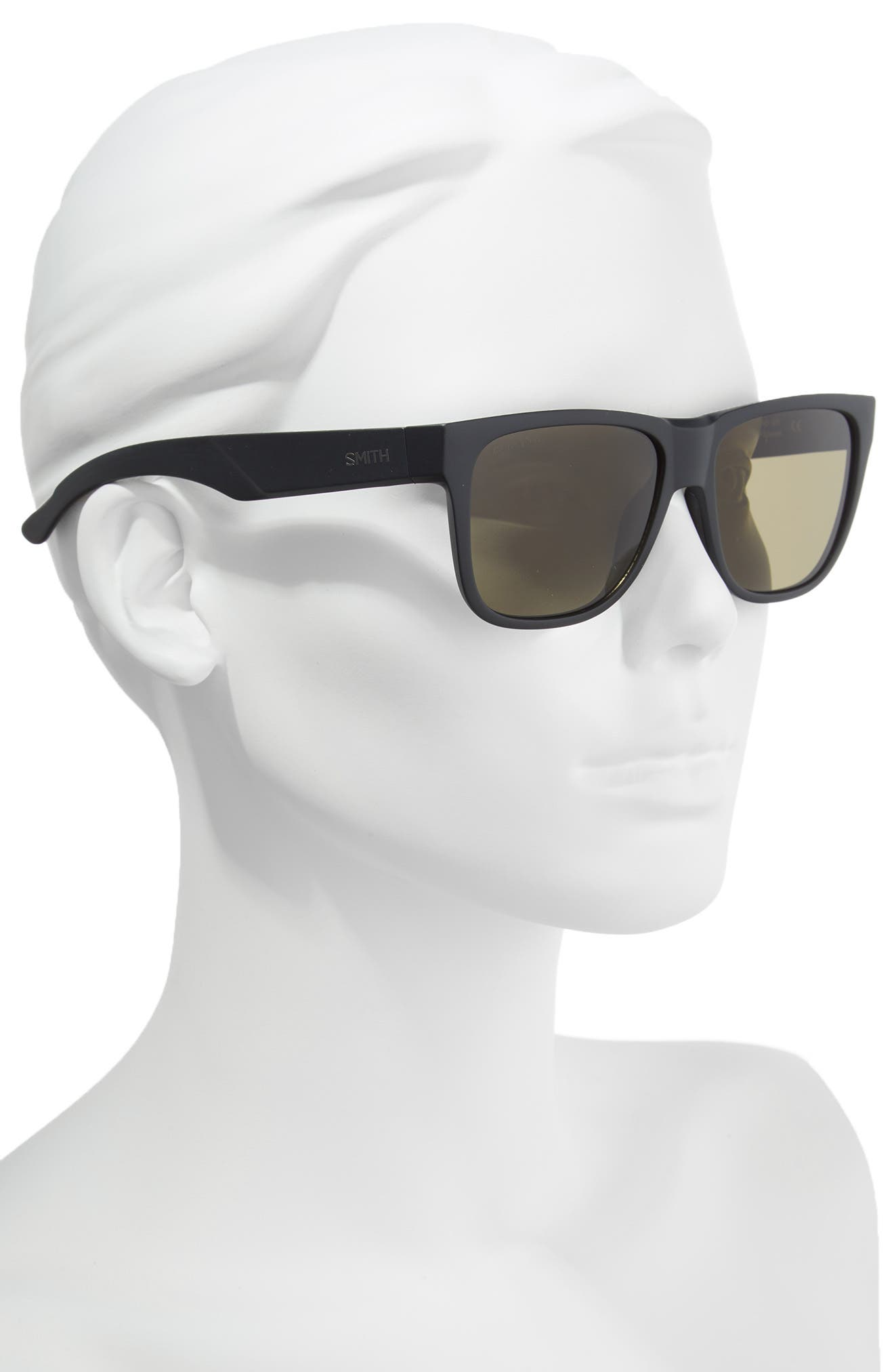 Lowdown 2 55mm ChromaPop<sup>™</sup> Square Sunglasses,                             Alternate thumbnail 2, color,                             Matte Black