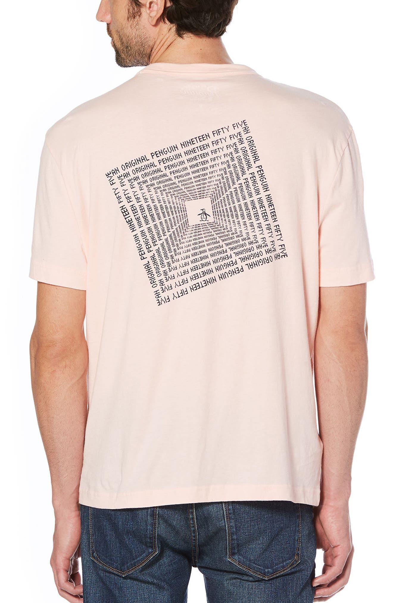 Optical Graphic T-Shirt,                             Alternate thumbnail 2, color,                             Impatiens Pink