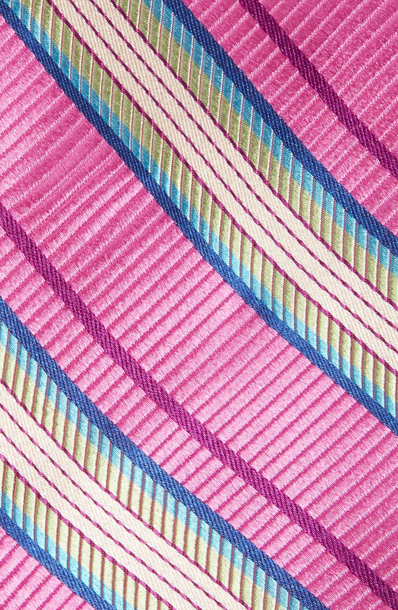 Soho Stripe Silk Tie,                             Alternate thumbnail 2, color,                             Pink