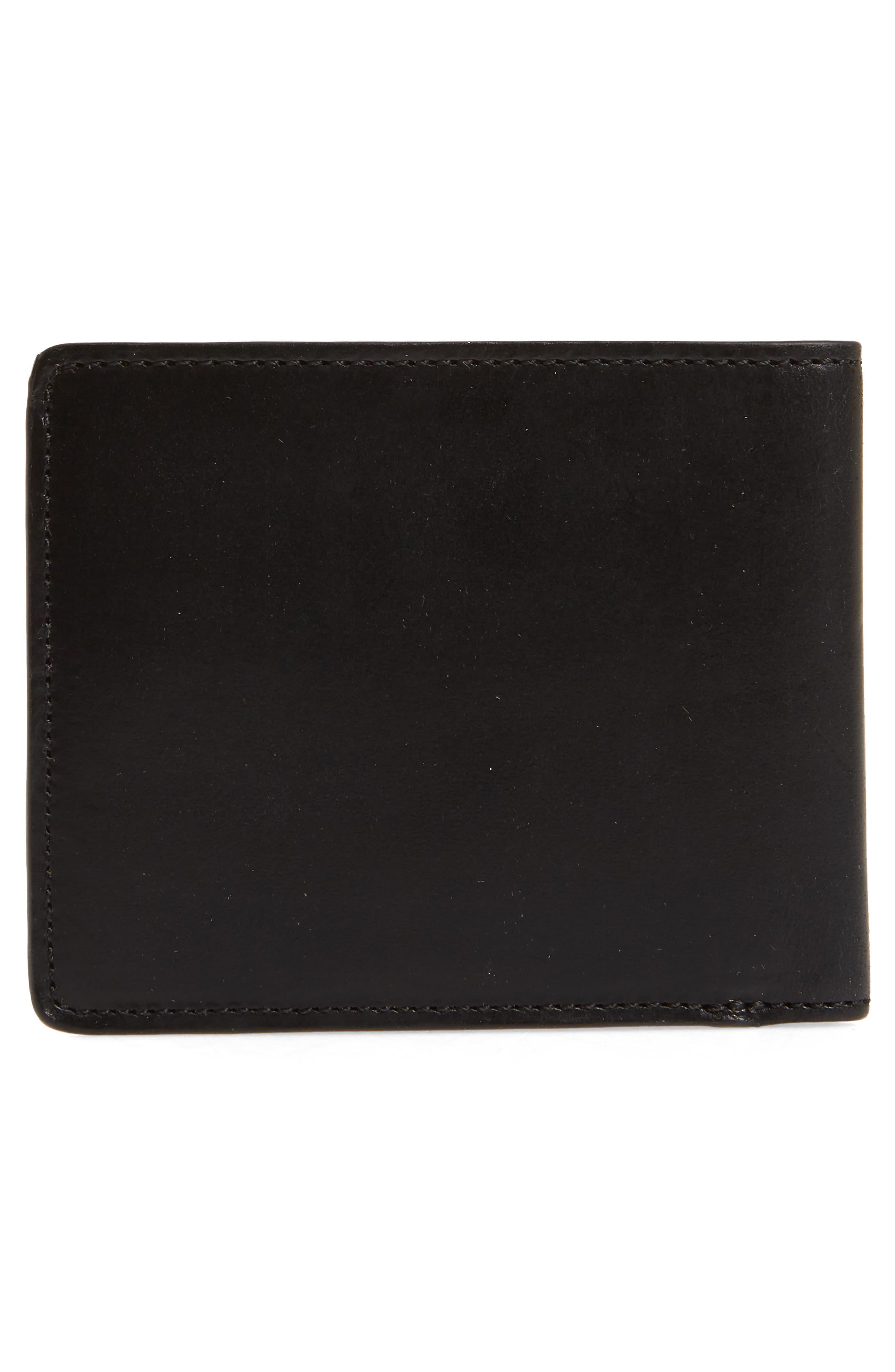 Darien Leather Wallet,                             Alternate thumbnail 3, color,                             Black